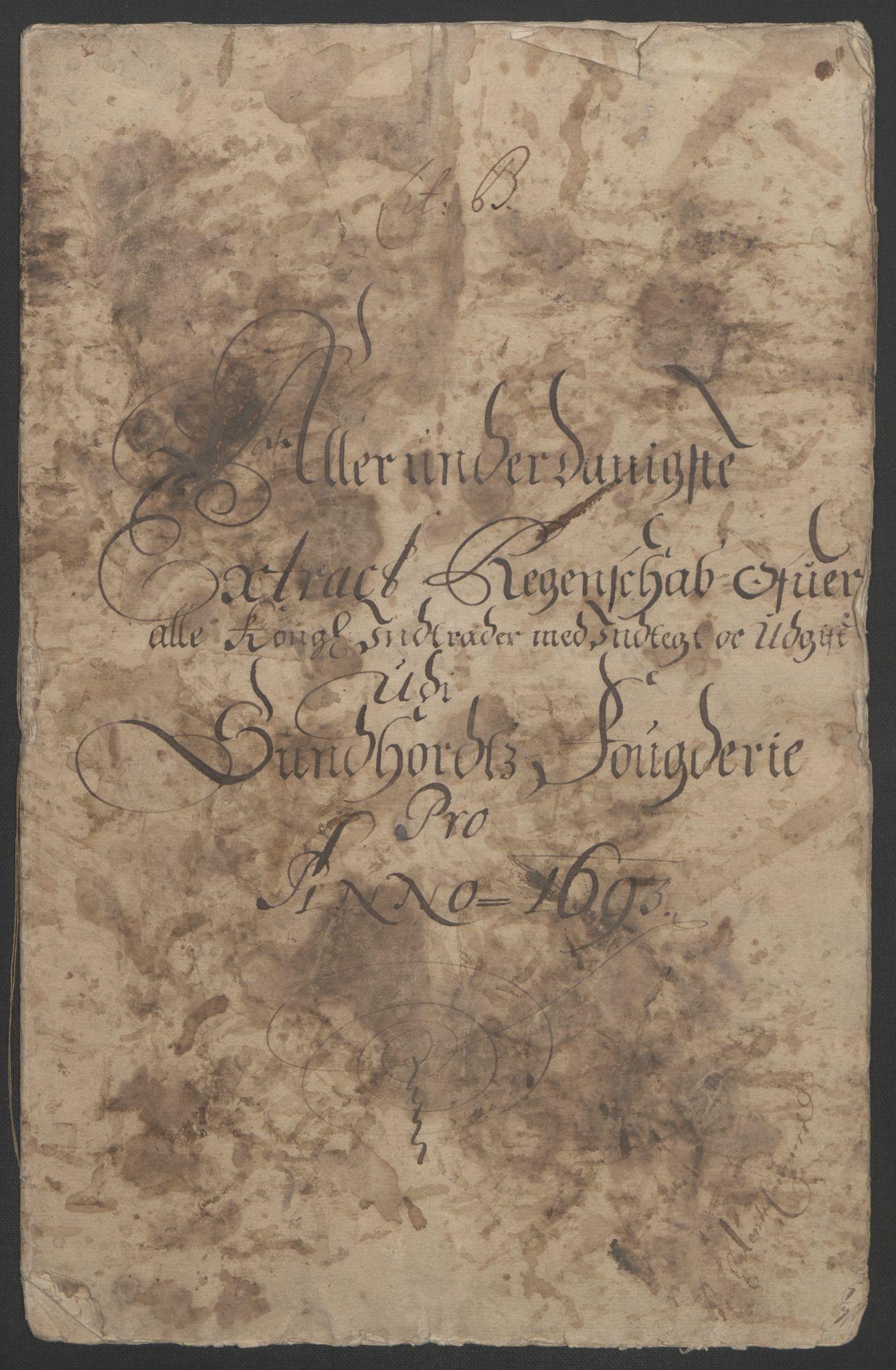 RA, Rentekammeret inntil 1814, Reviderte regnskaper, Fogderegnskap, R48/L2974: Fogderegnskap Sunnhordland og Hardanger, 1693, s. 6