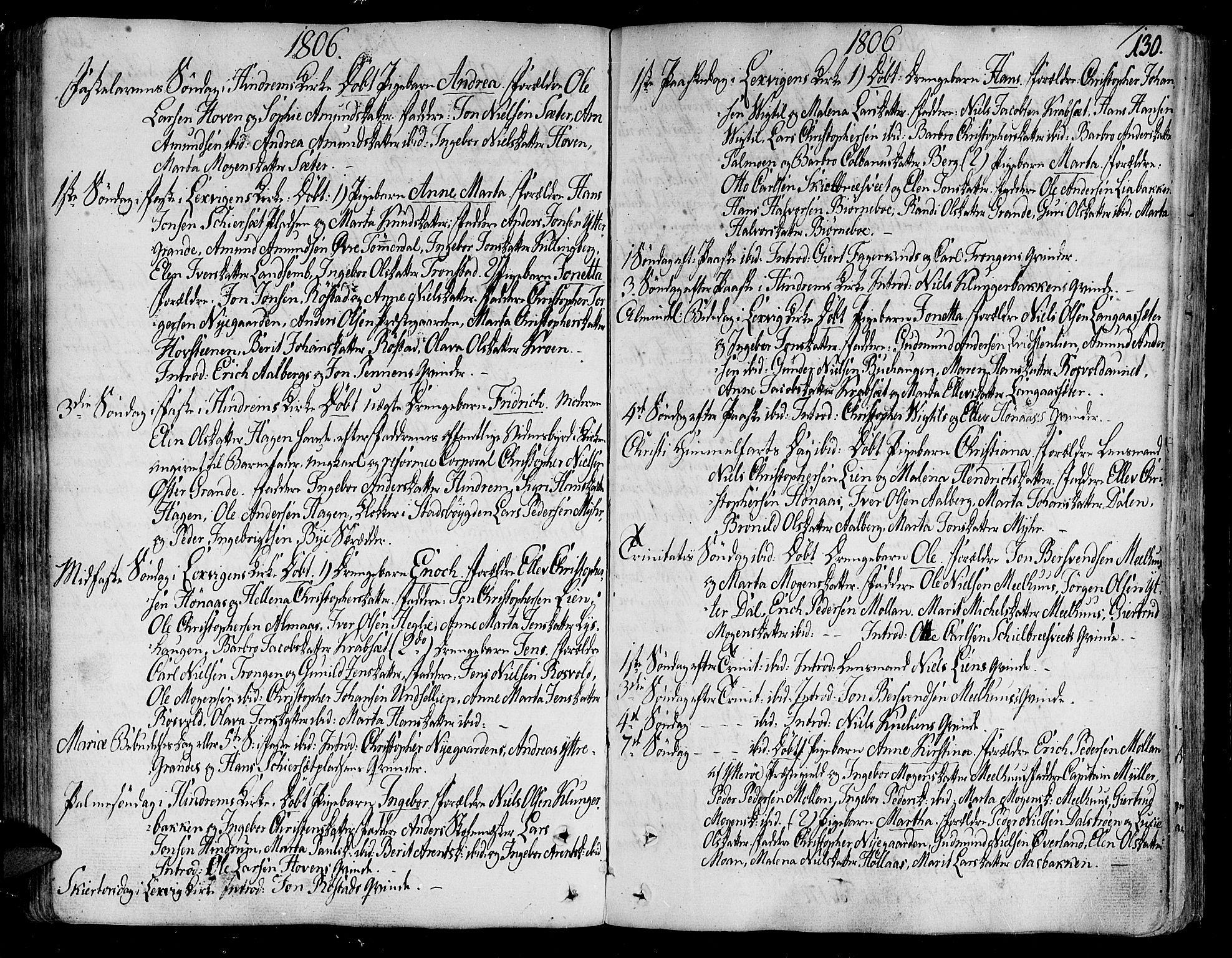 SAT, Ministerialprotokoller, klokkerbøker og fødselsregistre - Nord-Trøndelag, 701/L0004: Ministerialbok nr. 701A04, 1783-1816, s. 130