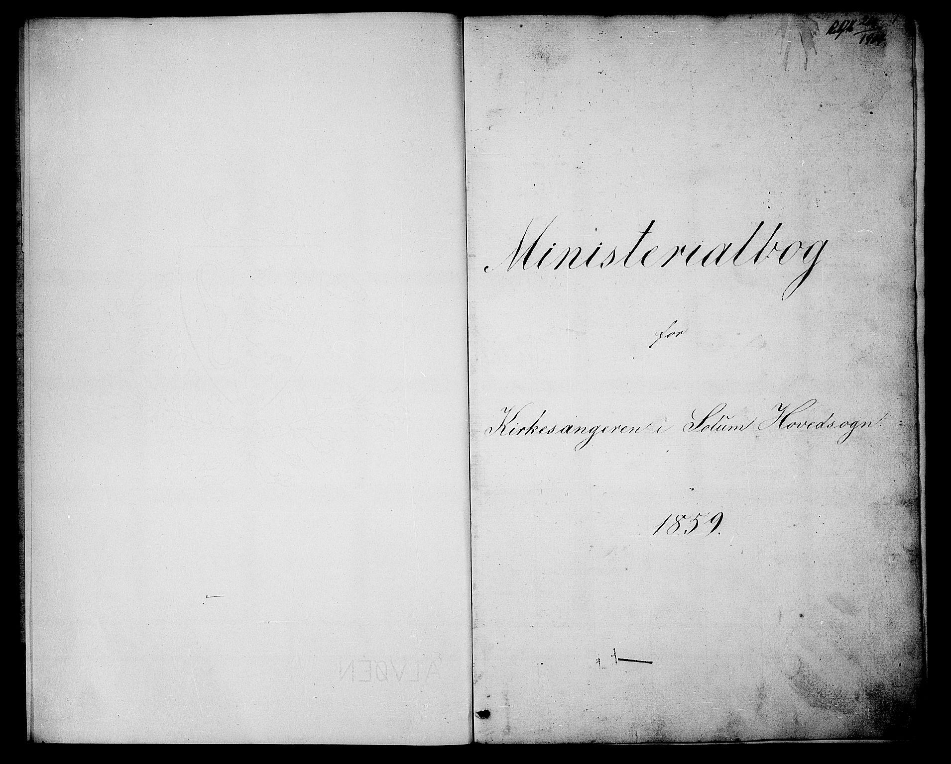 SAKO, Solum kirkebøker, G/Ga/L0004: Klokkerbok nr. I 4, 1859-1876, s. 1
