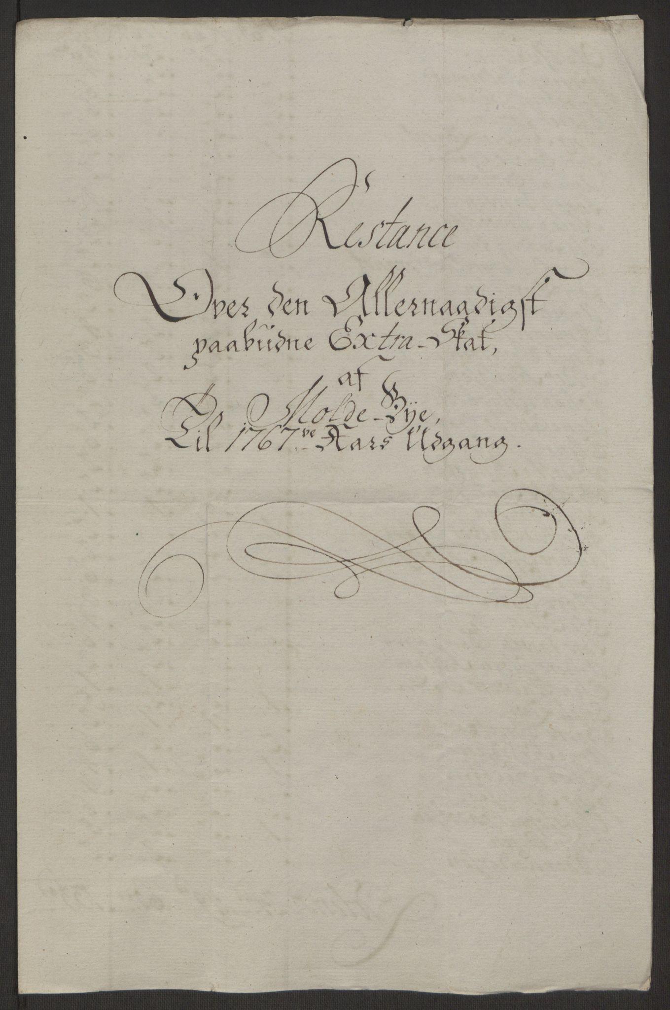 RA, Rentekammeret inntil 1814, Reviderte regnskaper, Byregnskaper, R/Rq/L0487: [Q1] Kontribusjonsregnskap, 1762-1772, s. 153