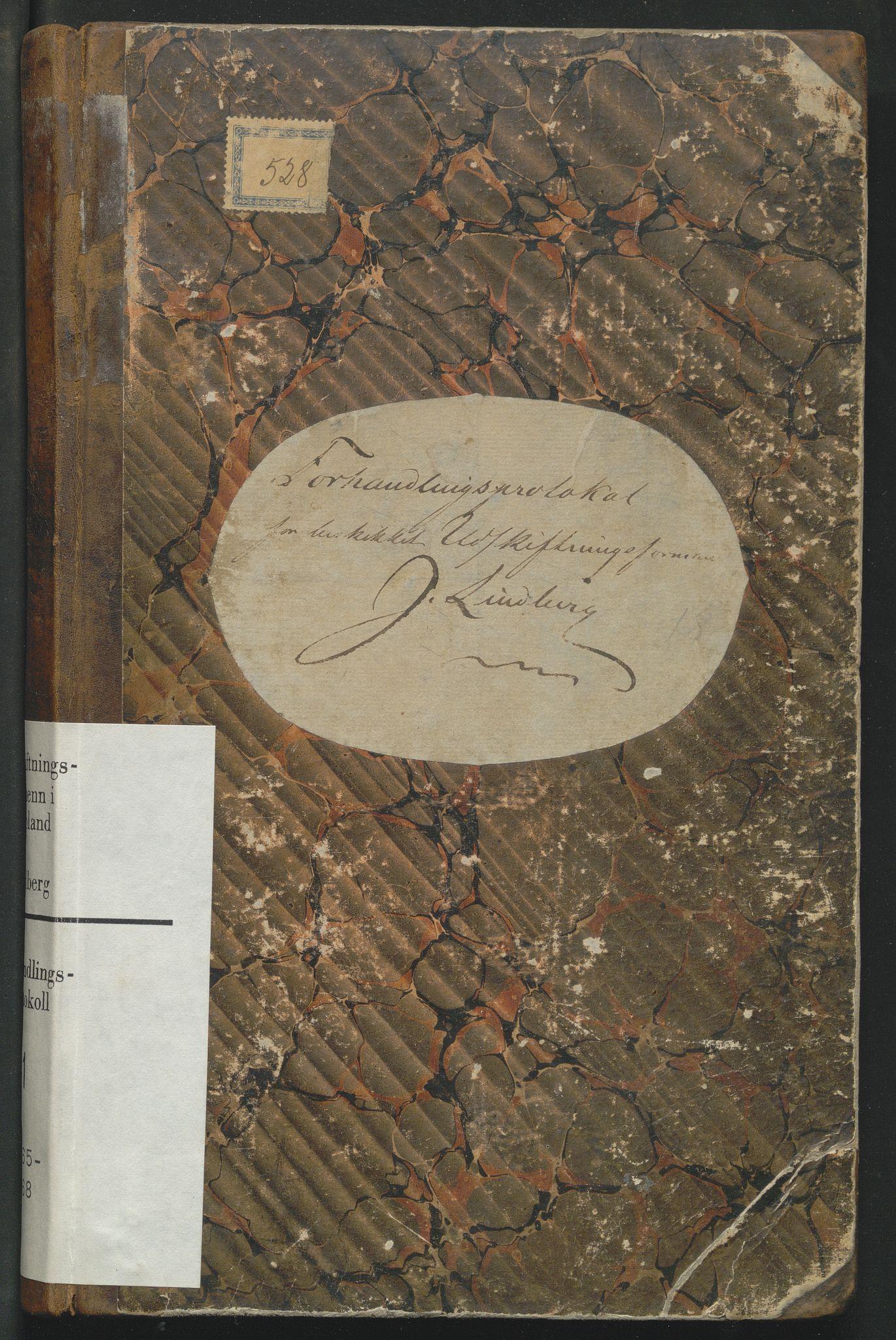 SAH, Utskiftningsformannen i Oppland fylke, H/Hf/Hfg/L0001: Forhandlingsprotokoll - Toten og Hadeland, 1865-1868