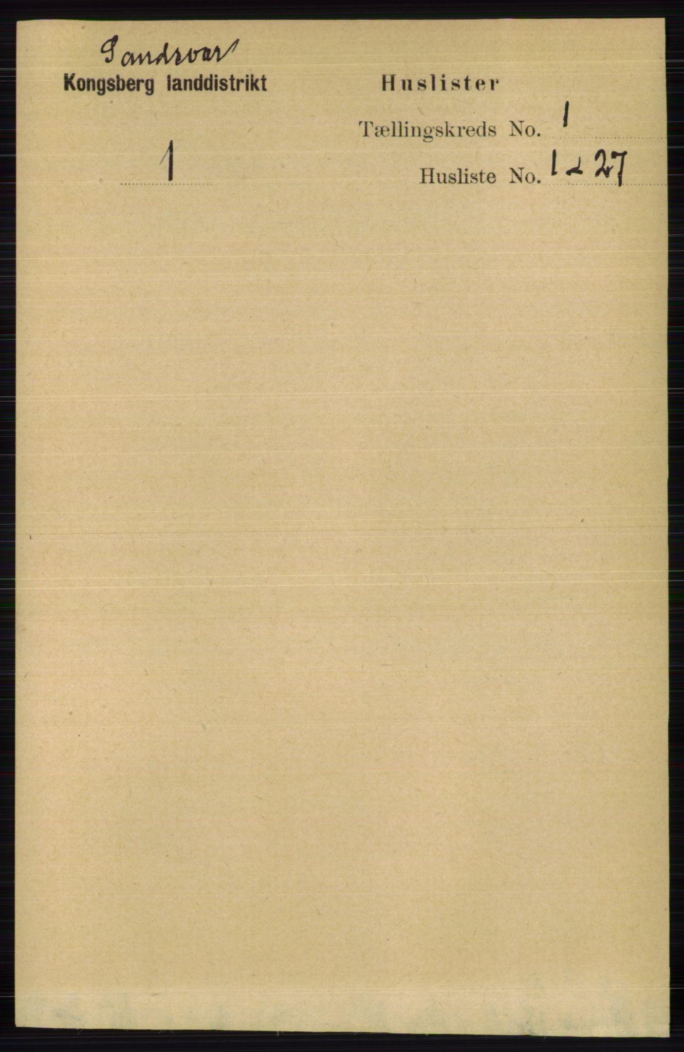RA, Folketelling 1891 for 0629 Sandsvær herred, 1891, s. 5521