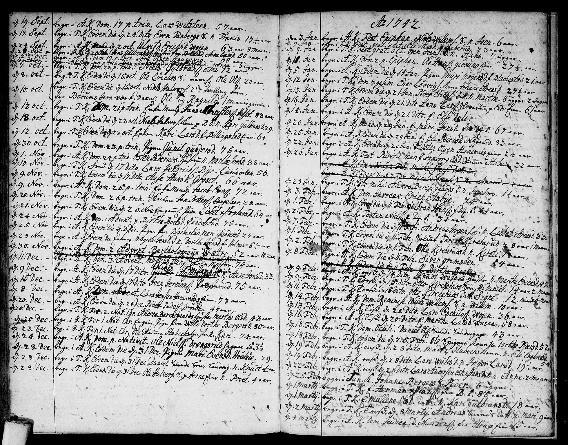 SAO, Asker prestekontor Kirkebøker, F/Fa/L0001: Ministerialbok nr. I 1, 1726-1744, s. 108