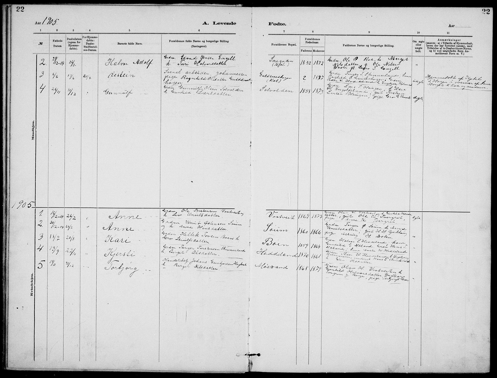SAKO, Rjukan kirkebøker, G/Ga/L0001: Klokkerbok nr. 1, 1880-1914, s. 22