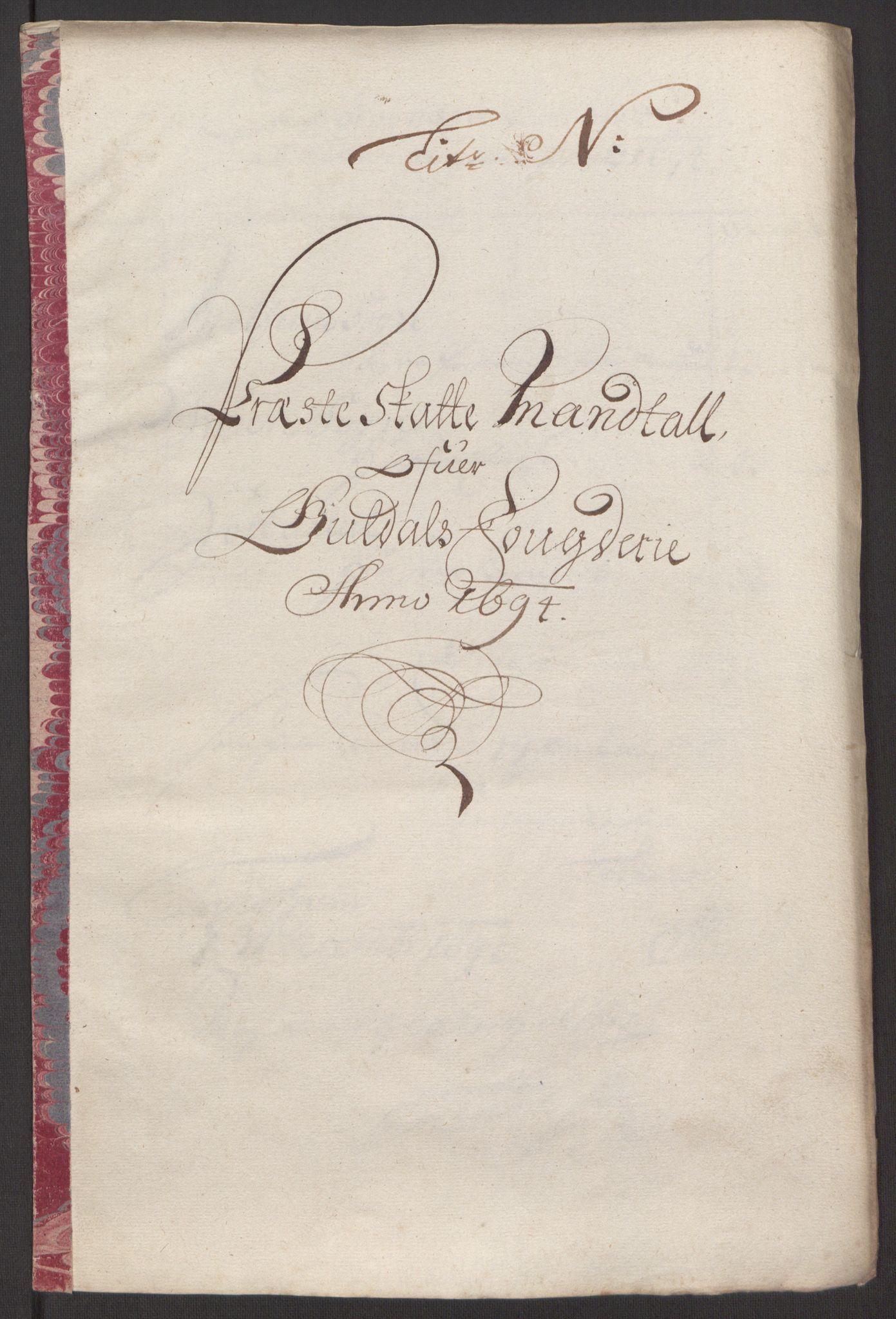 RA, Rentekammeret inntil 1814, Reviderte regnskaper, Fogderegnskap, R60/L3944: Fogderegnskap Orkdal og Gauldal, 1694, s. 407