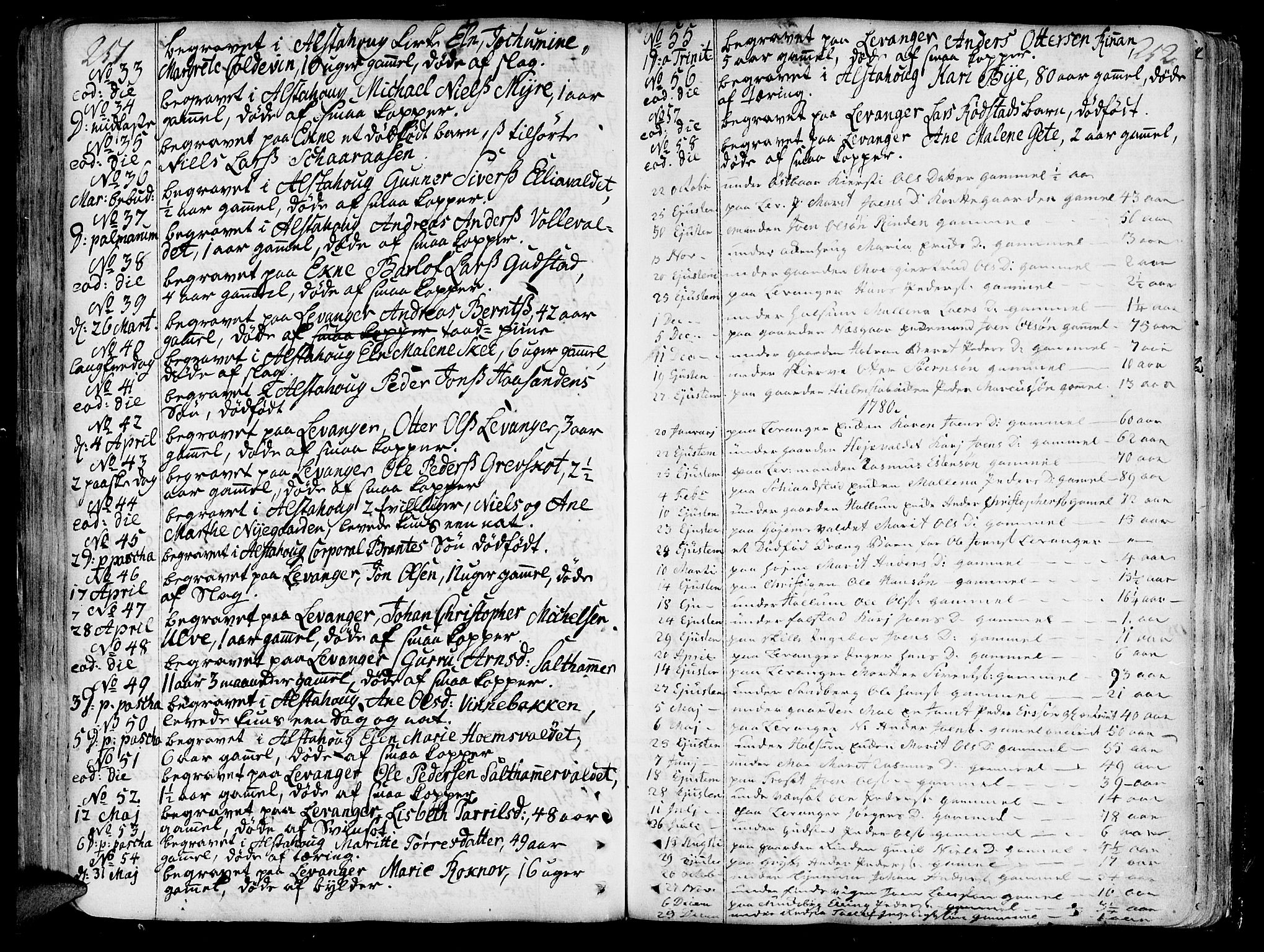 SAT, Ministerialprotokoller, klokkerbøker og fødselsregistre - Nord-Trøndelag, 717/L0141: Ministerialbok nr. 717A01, 1747-1803, s. 251-252