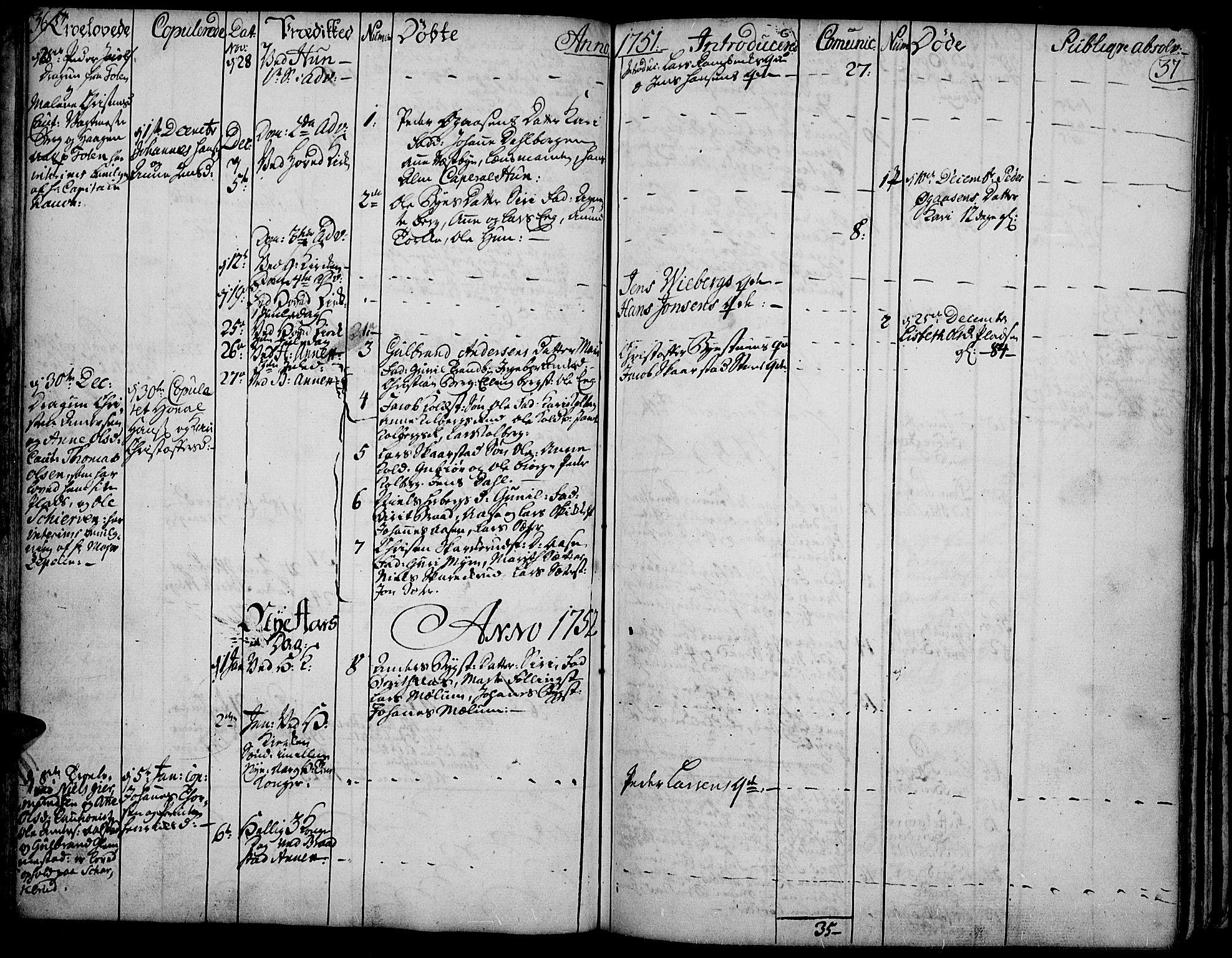 SAH, Vardal prestekontor, H/Ha/Haa/L0002: Ministerialbok nr. 2, 1748-1776, s. 36-37