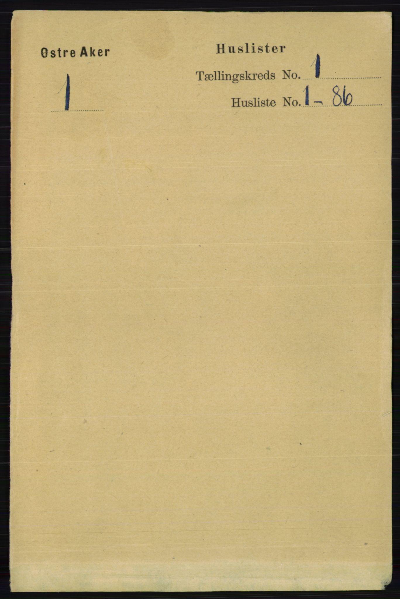 RA, Folketelling 1891 for 0218 Aker herred, 1891, s. 61