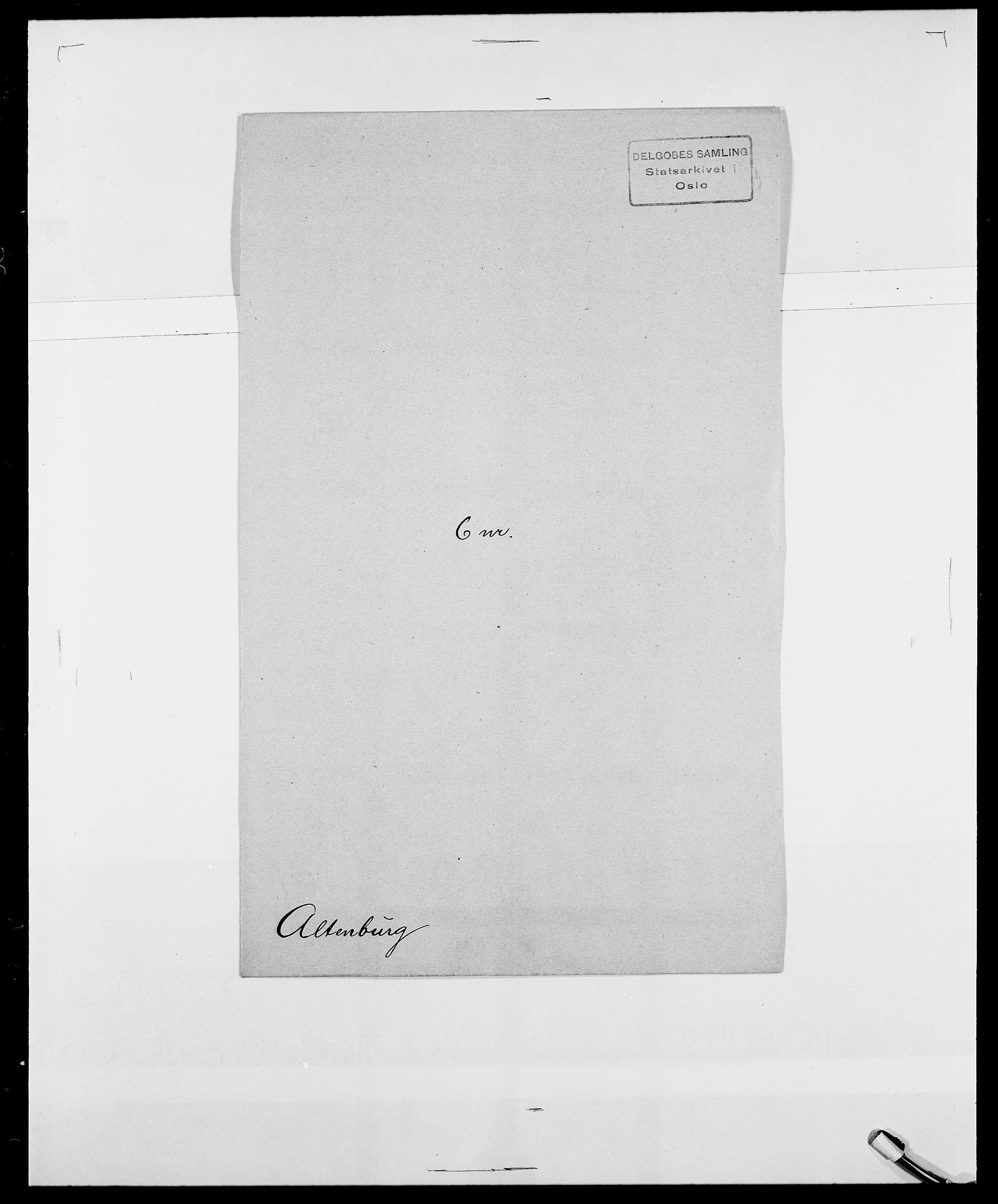 SAO, Delgobe, Charles Antoine - samling, D/Da/L0001: Aabye - Angerman, s. 479