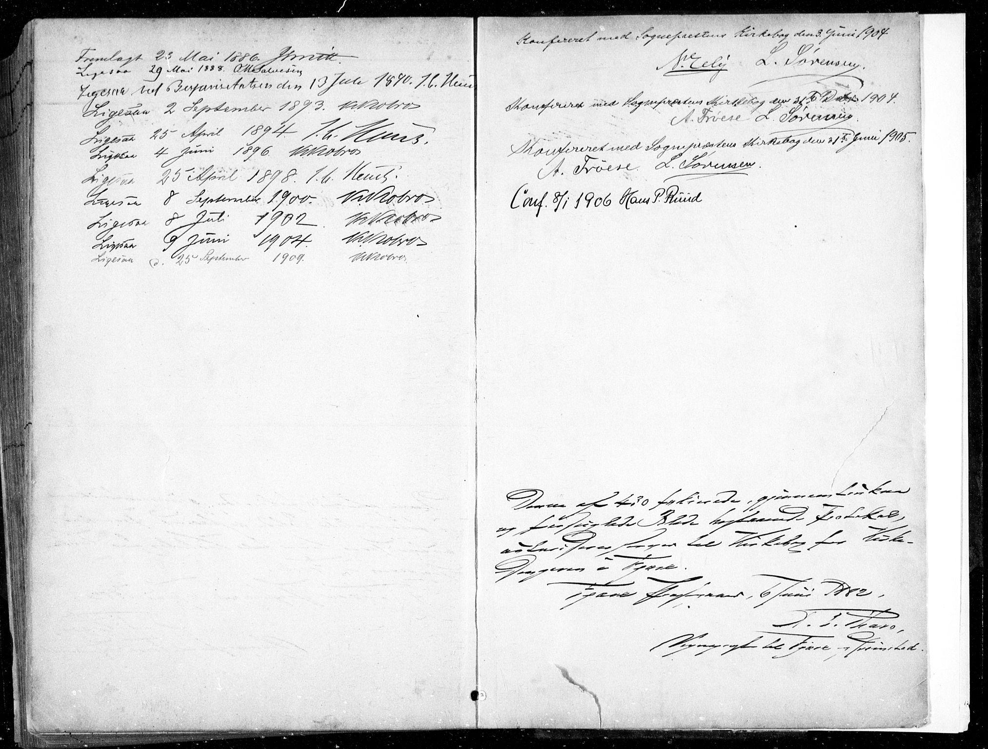 SAK, Fjære sokneprestkontor, F/Fb/L0011: Klokkerbok nr. B 11, 1881-1905