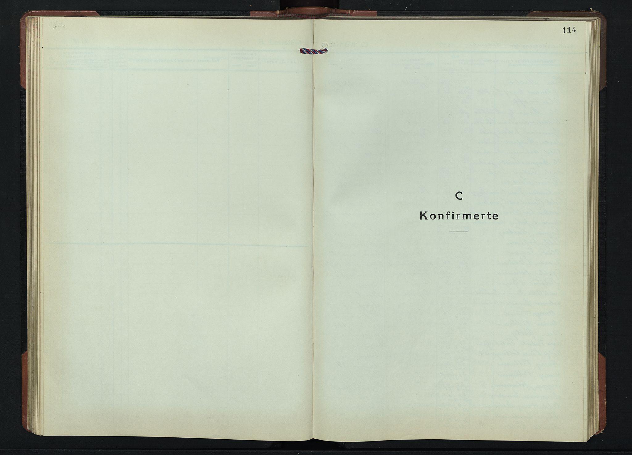 SAH, Gjøvik prestekontor, Klokkerbok nr. 1, 1941-1951, s. 114
