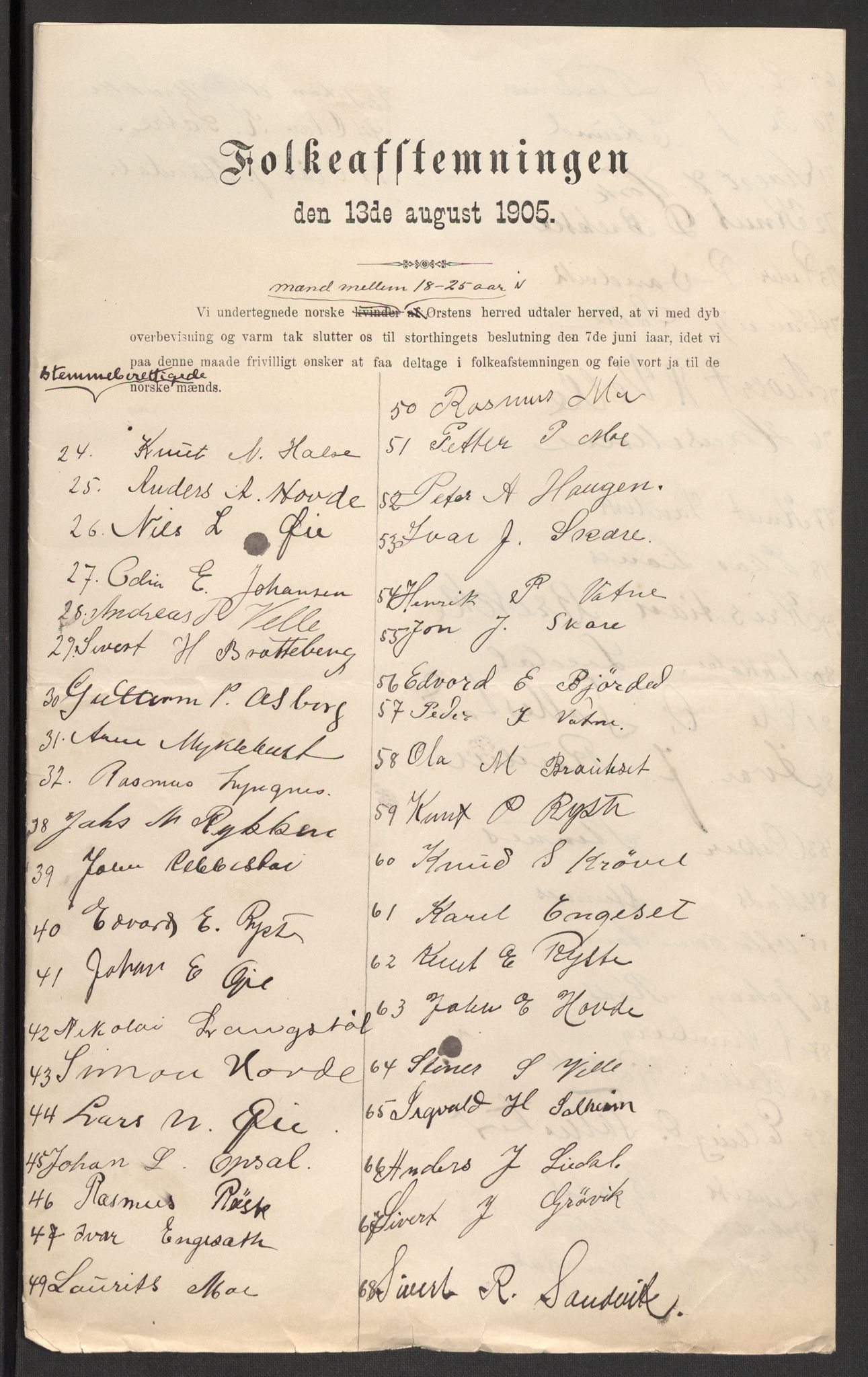 RA, Justisdepartementet, 2. sivilkontor C, F/L0125B: Folkeavstemmingen august 1905, 1905, s. 219