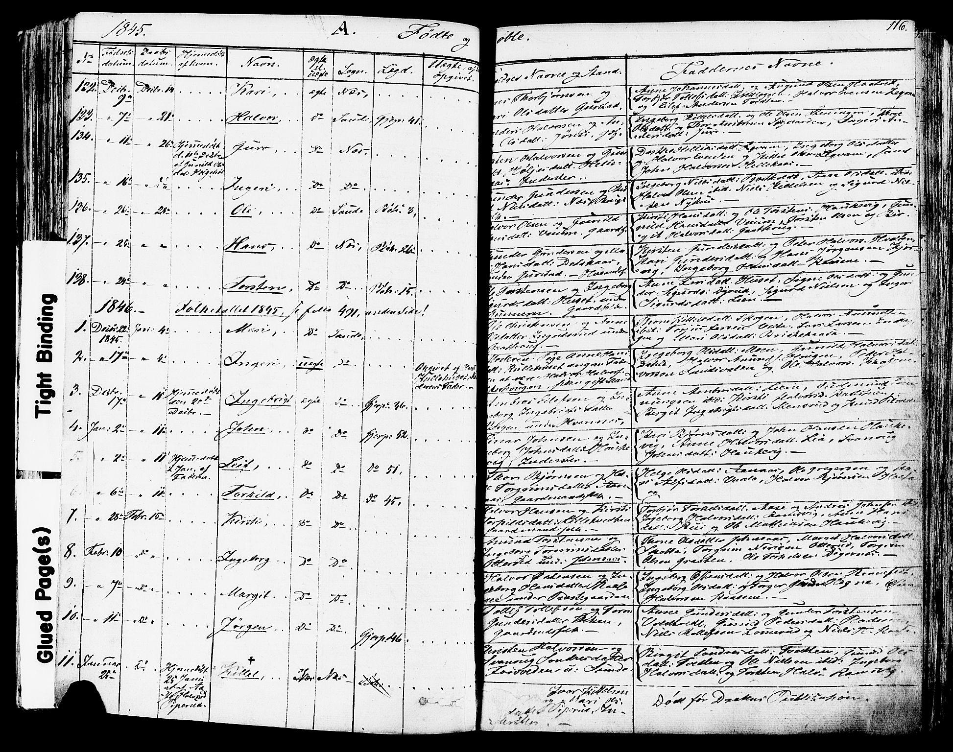 SAKO, Sauherad kirkebøker, F/Fa/L0006: Ministerialbok nr. I 6, 1827-1850, s. 116