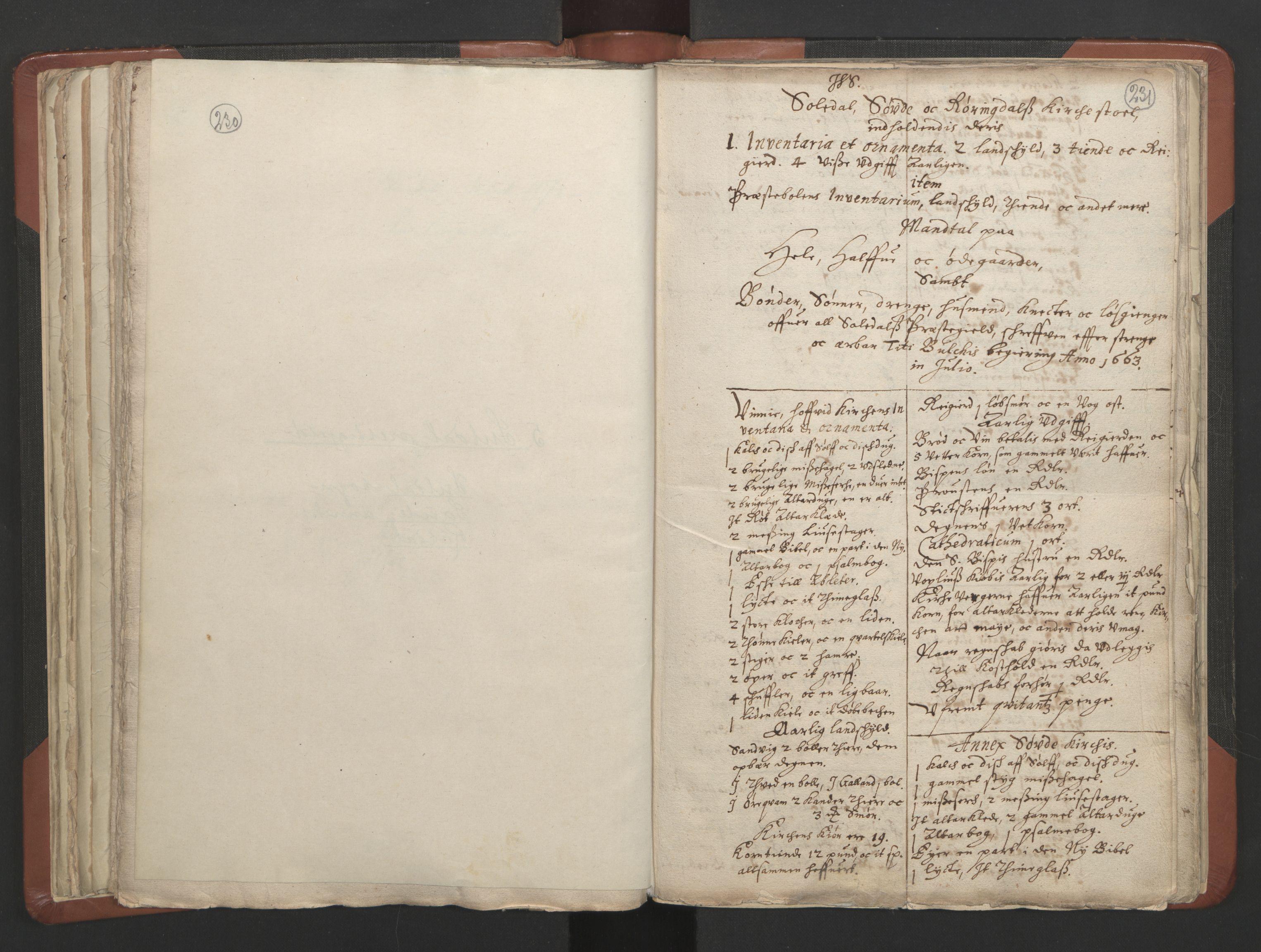 RA, Sogneprestenes manntall 1664-1666, nr. 19: Ryfylke prosti, 1664-1666, s. 230-231