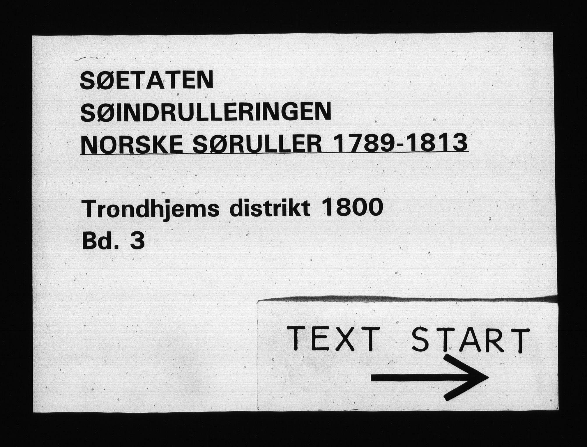 RA, Sjøetaten, F/L0320: Trondheim distrikt, bind 3, 1800