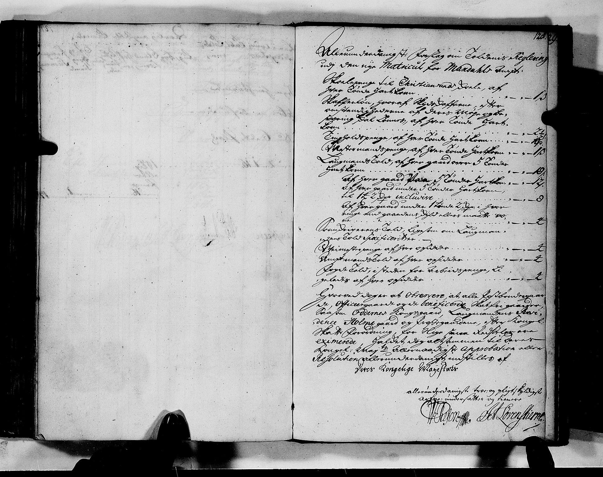 RA, Rentekammeret inntil 1814, Realistisk ordnet avdeling, N/Nb/Nbf/L0128: Mandal matrikkelprotokoll, 1723, s. 127b-128a