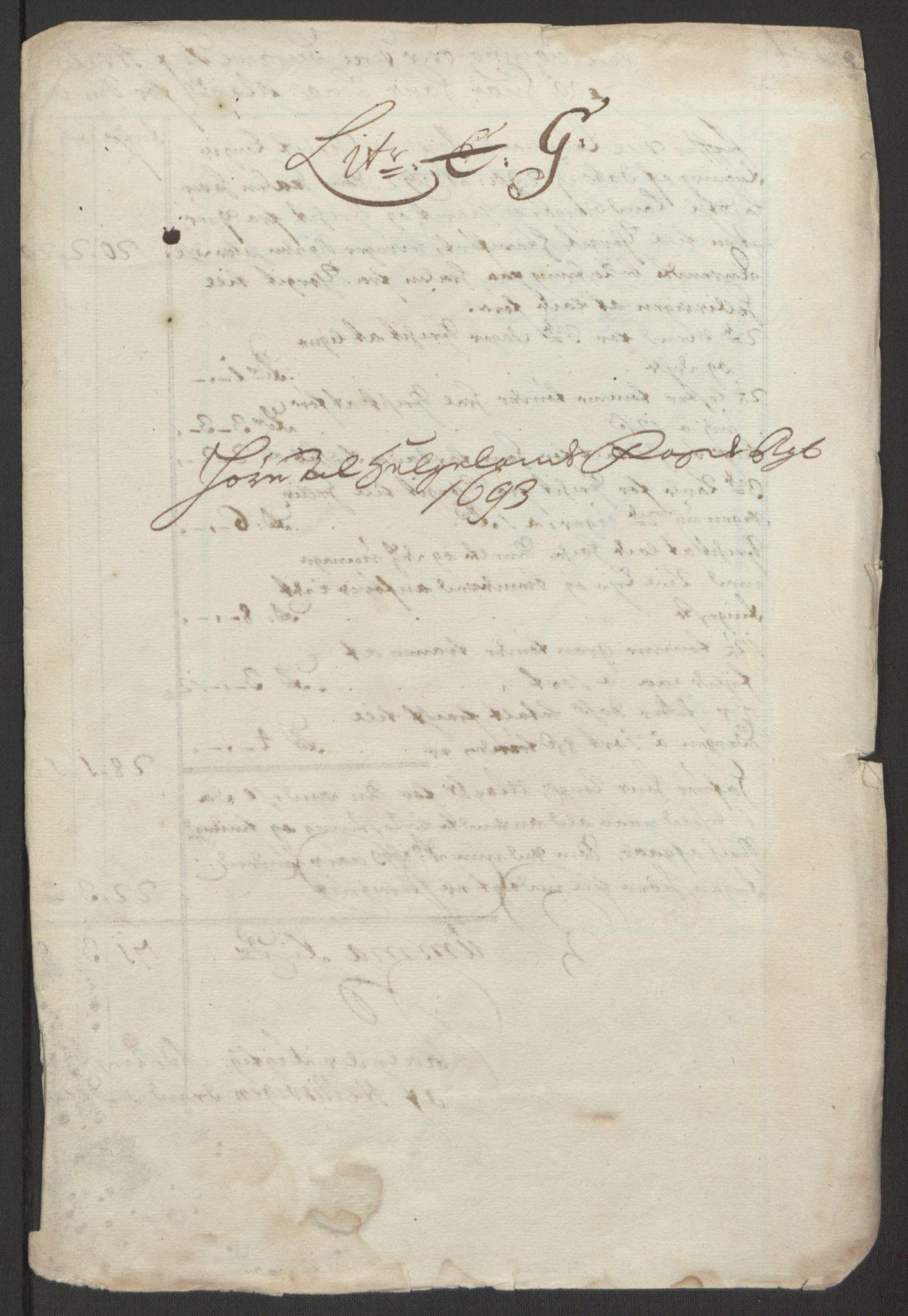 RA, Rentekammeret inntil 1814, Reviderte regnskaper, Fogderegnskap, R65/L4505: Fogderegnskap Helgeland, 1693-1696, s. 126