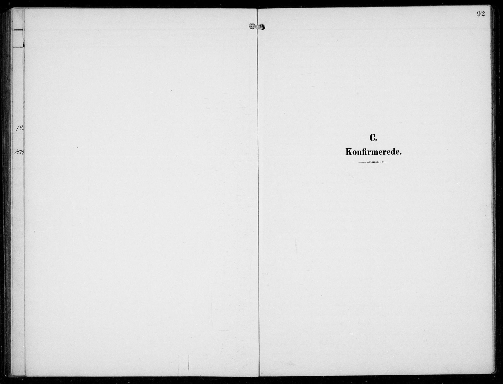 SAB, Aurland sokneprestembete, H/Hb/Hba/L0003: Klokkerbok nr. A 3, 1896-1939, s. 92