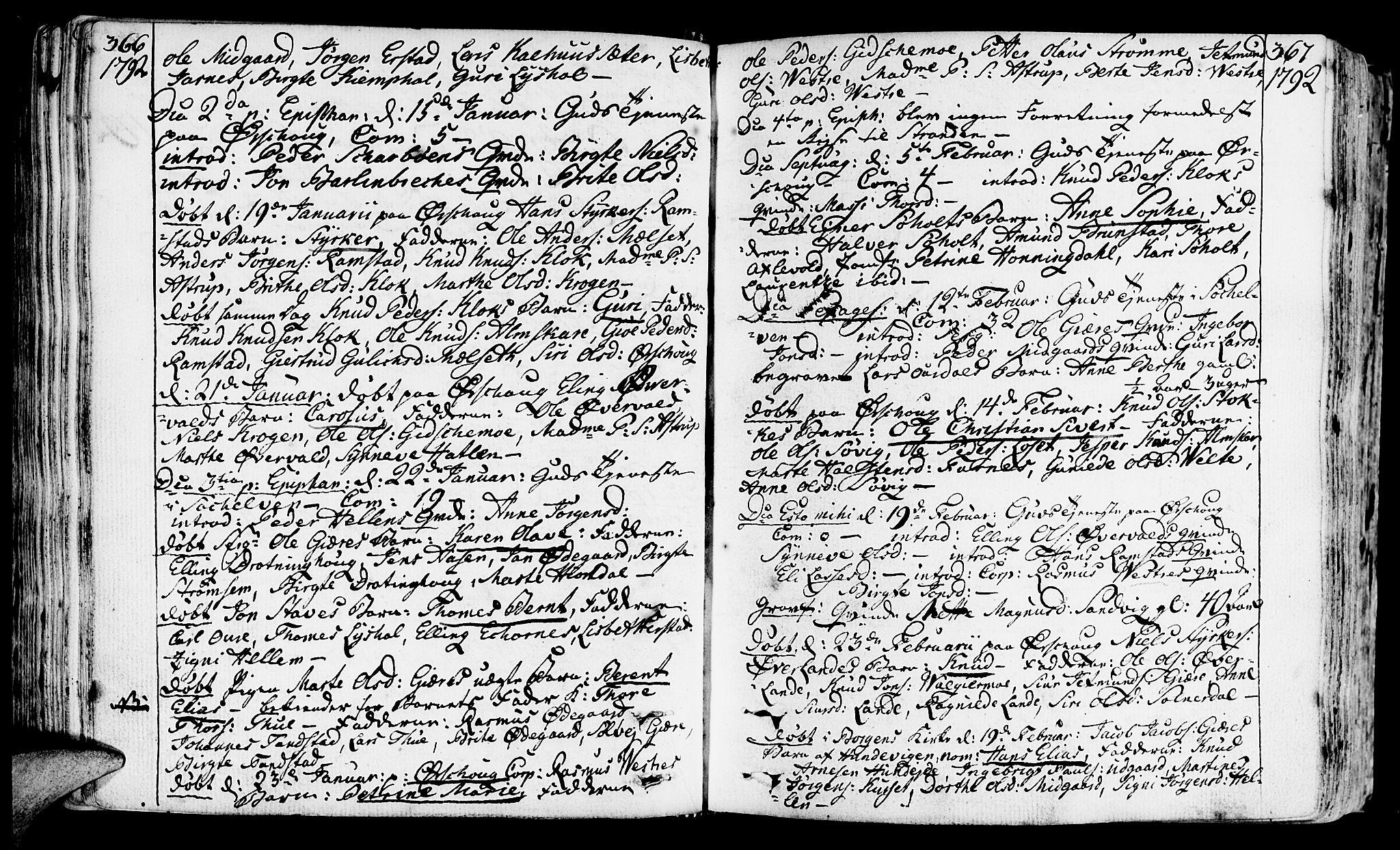 SAT, Ministerialprotokoller, klokkerbøker og fødselsregistre - Møre og Romsdal, 522/L0308: Ministerialbok nr. 522A03, 1773-1809, s. 366-367