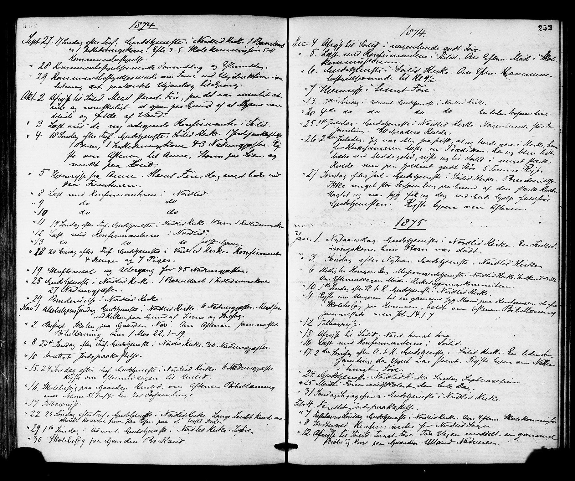 SAT, Ministerialprotokoller, klokkerbøker og fødselsregistre - Nord-Trøndelag, 755/L0493: Ministerialbok nr. 755A02, 1865-1881, s. 252