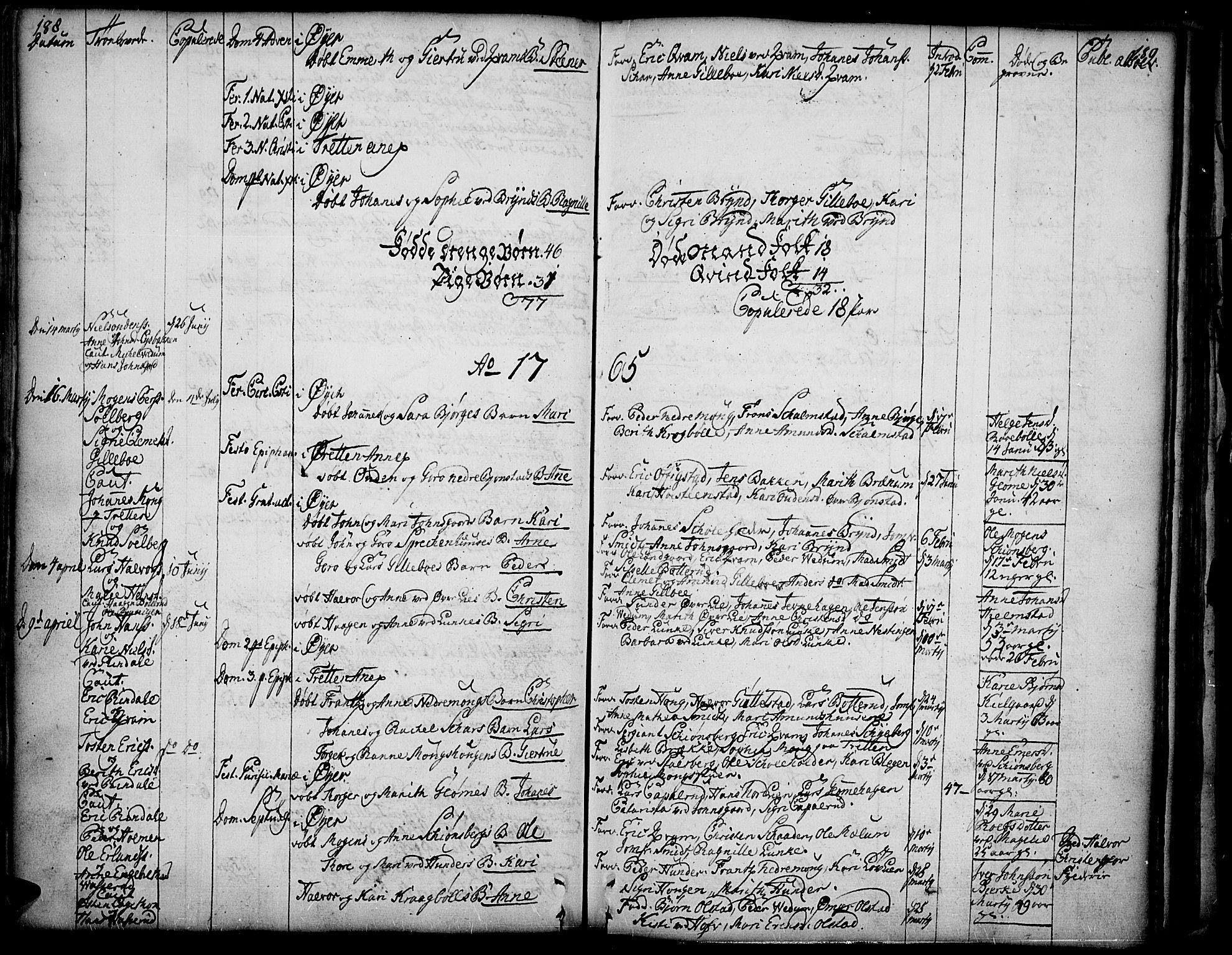 SAH, Øyer prestekontor, Ministerialbok nr. 2, 1733-1784, s. 188-189