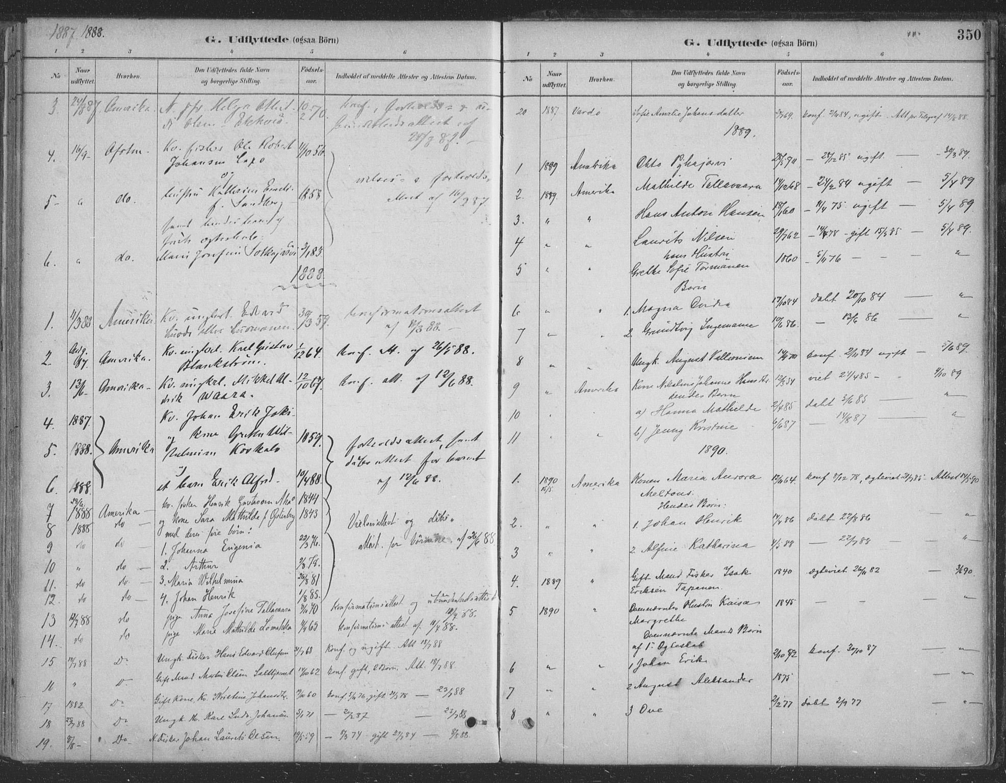 SATØ, Vadsø sokneprestkontor, H/Ha/L0009kirke: Ministerialbok nr. 9, 1881-1917, s. 350