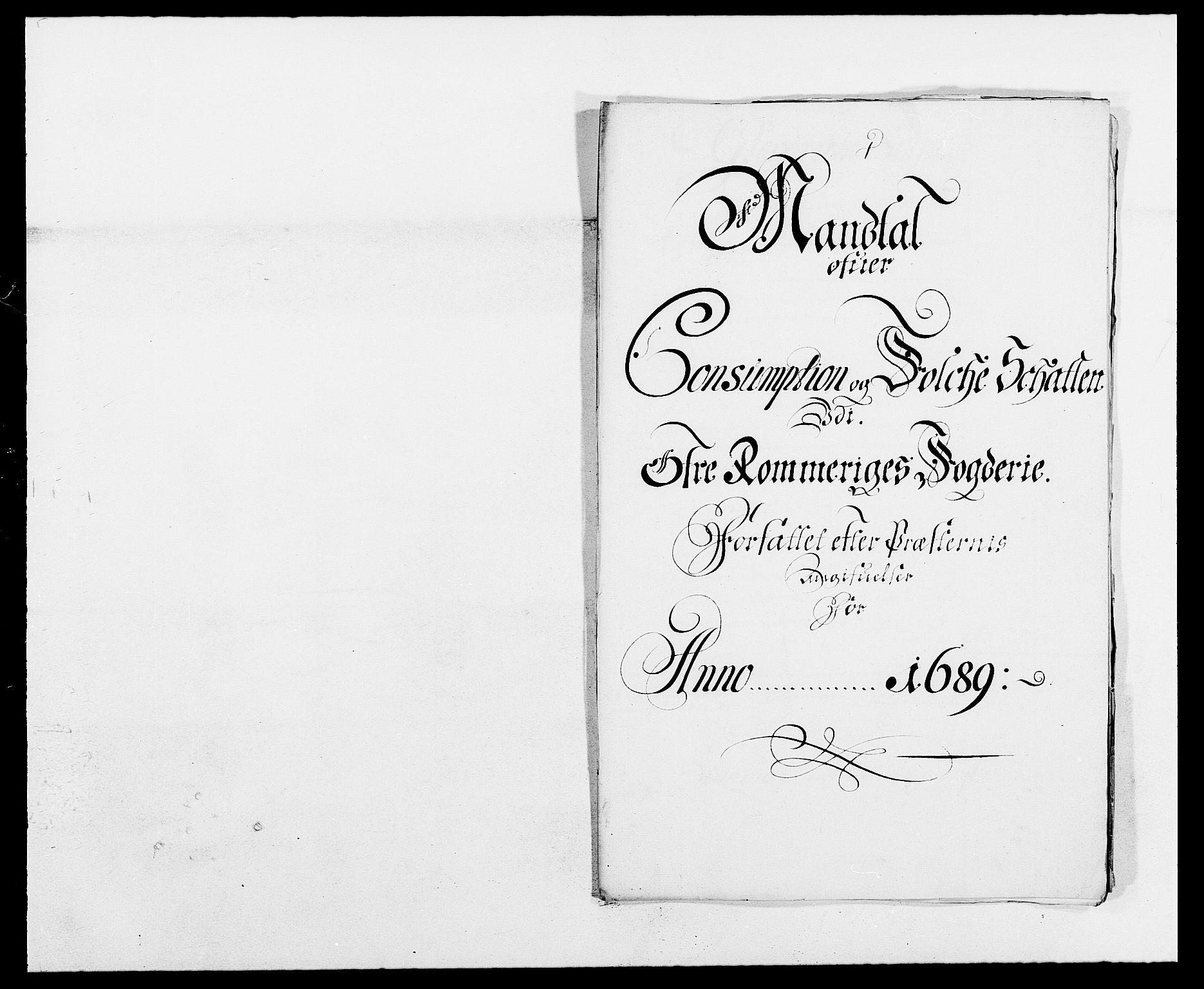 RA, Rentekammeret inntil 1814, Reviderte regnskaper, Fogderegnskap, R12/L0701: Fogderegnskap Øvre Romerike, 1689, s. 192