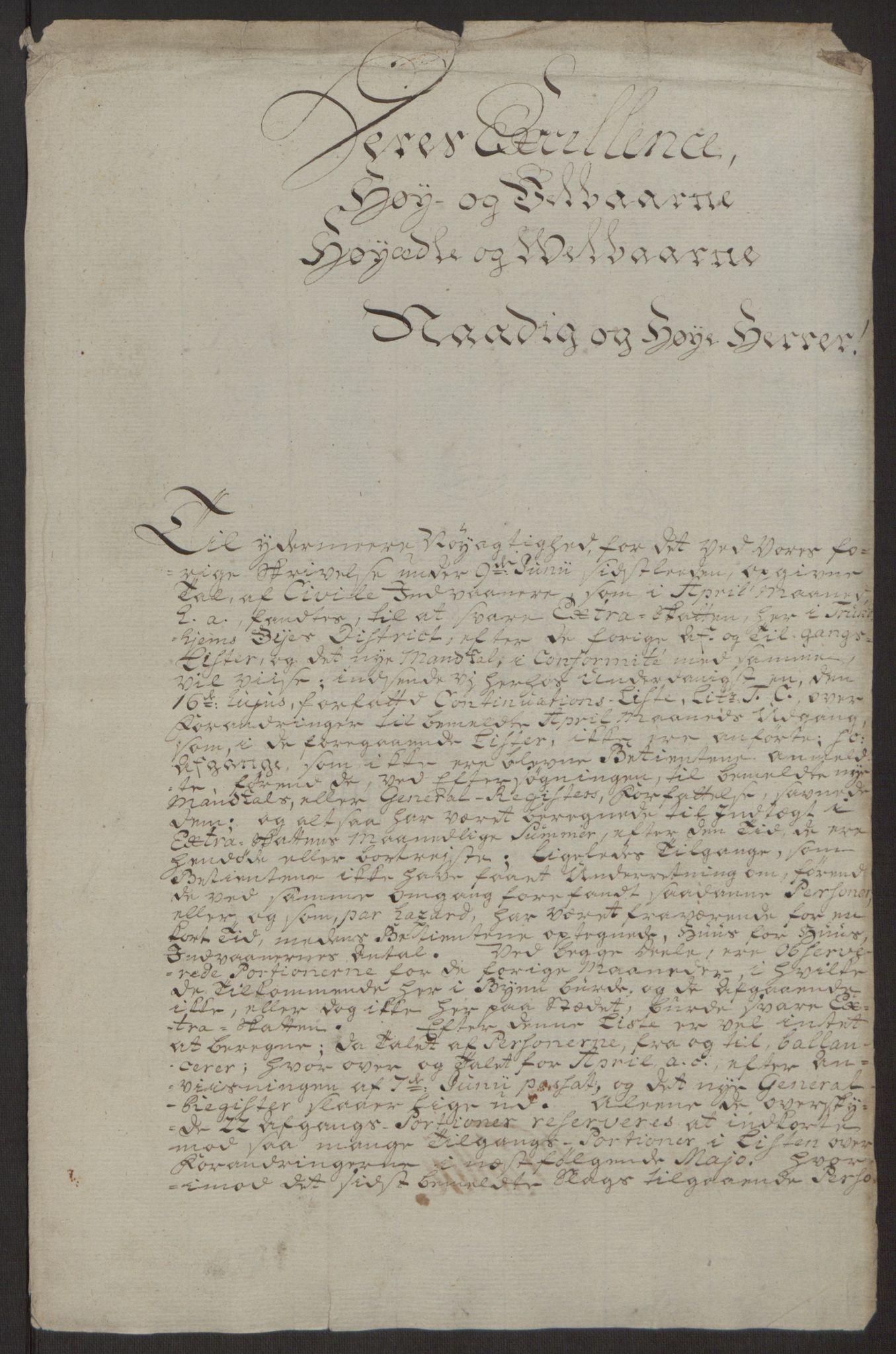 RA, Rentekammeret inntil 1814, Reviderte regnskaper, Byregnskaper, R/Rs/L0516: [S9] Kontribusjonsregnskap, 1762-1767, s. 320