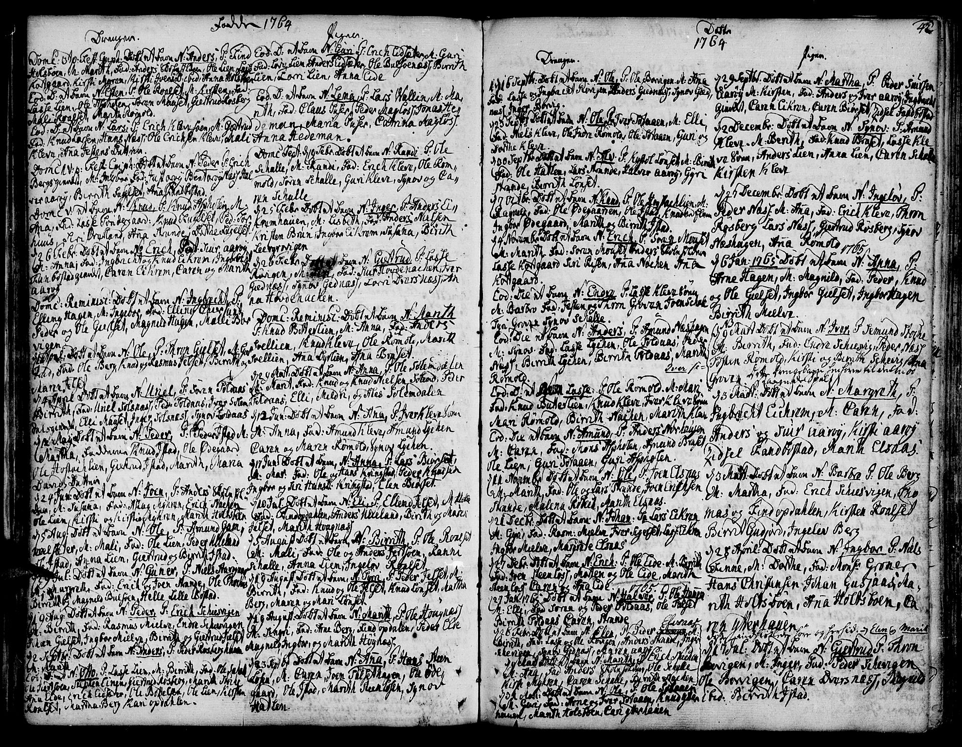 SAT, Ministerialprotokoller, klokkerbøker og fødselsregistre - Møre og Romsdal, 555/L0648: Ministerialbok nr. 555A01, 1759-1793, s. 42