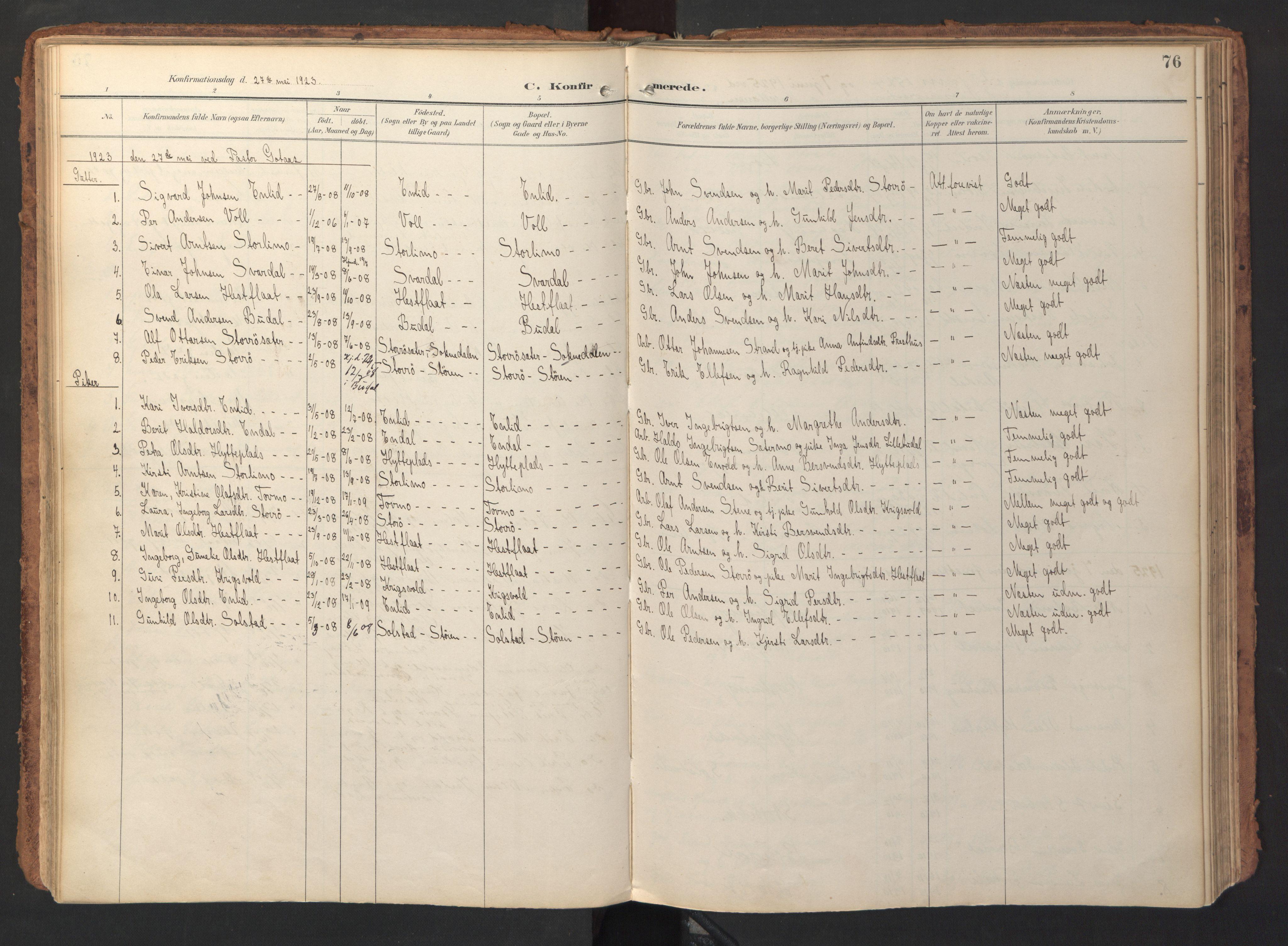 SAT, Ministerialprotokoller, klokkerbøker og fødselsregistre - Sør-Trøndelag, 690/L1050: Ministerialbok nr. 690A01, 1889-1929, s. 76