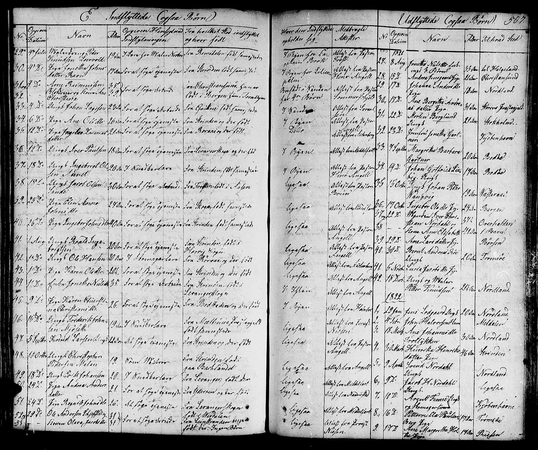 SAT, Ministerialprotokoller, klokkerbøker og fødselsregistre - Sør-Trøndelag, 601/L0045: Ministerialbok nr. 601A13, 1821-1831, s. 507