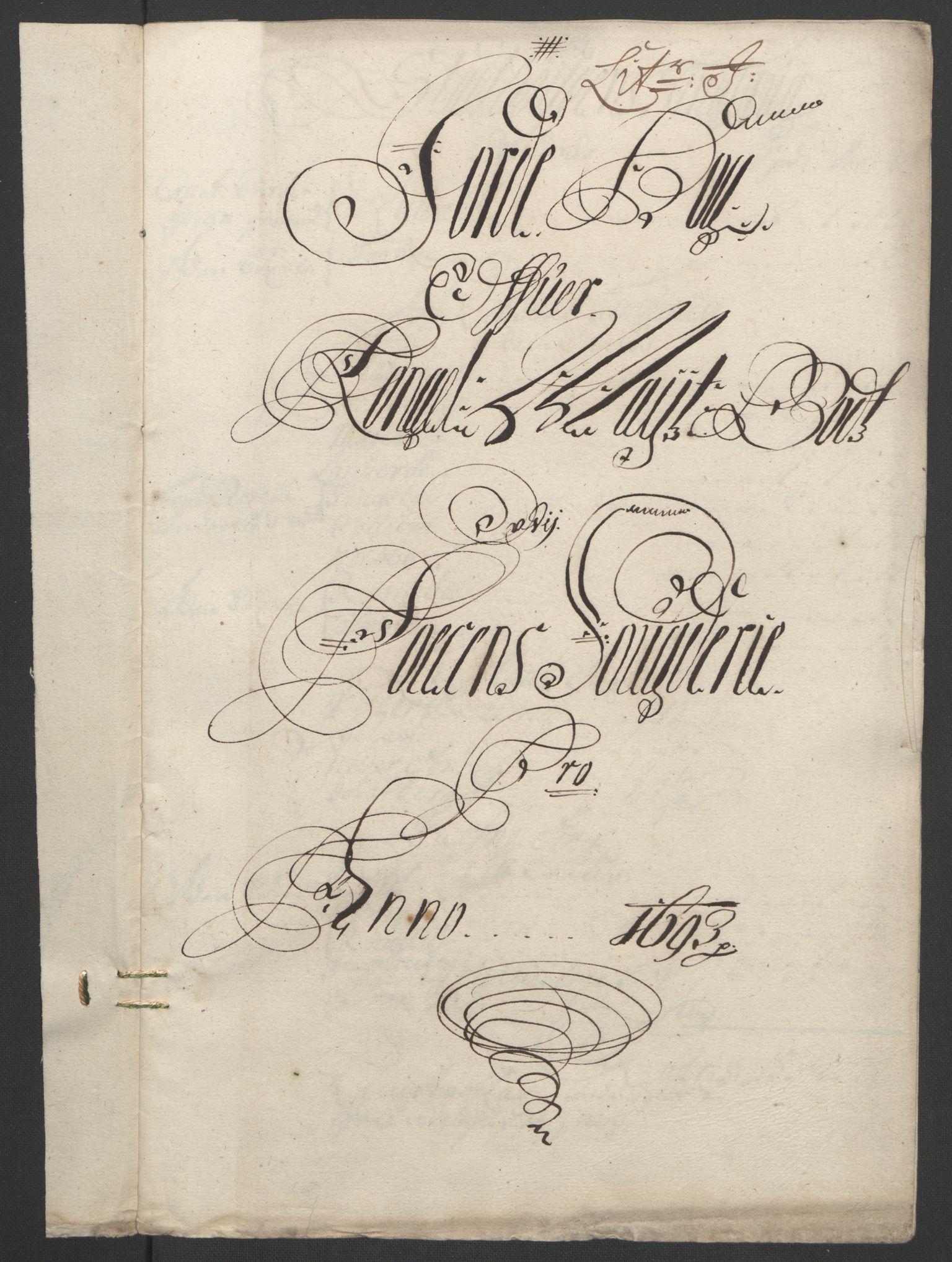 RA, Rentekammeret inntil 1814, Reviderte regnskaper, Fogderegnskap, R57/L3849: Fogderegnskap Fosen, 1692-1693, s. 527