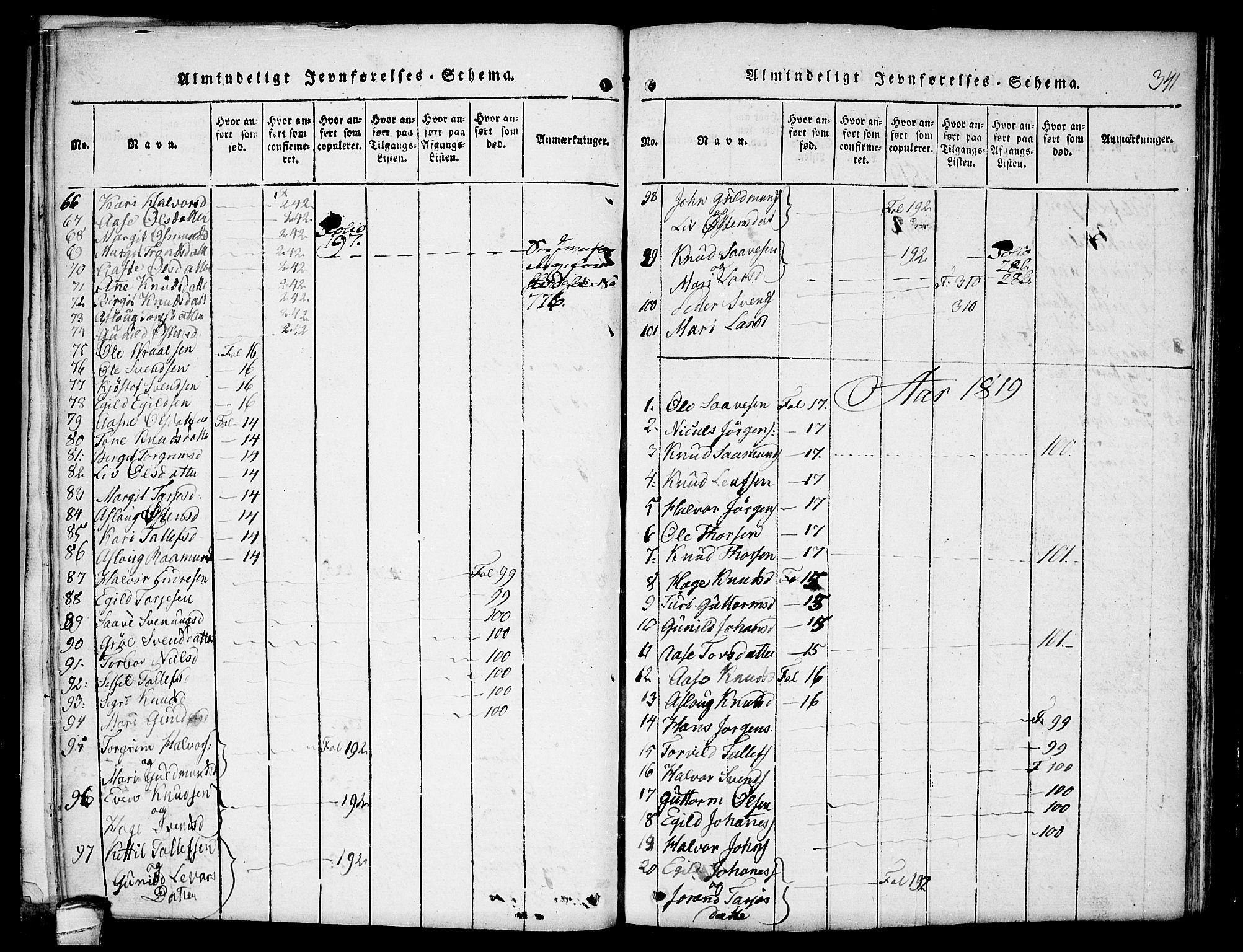 SAKO, Kviteseid kirkebøker, F/Fb/L0001: Ministerialbok nr. II 1, 1815-1836, s. 341