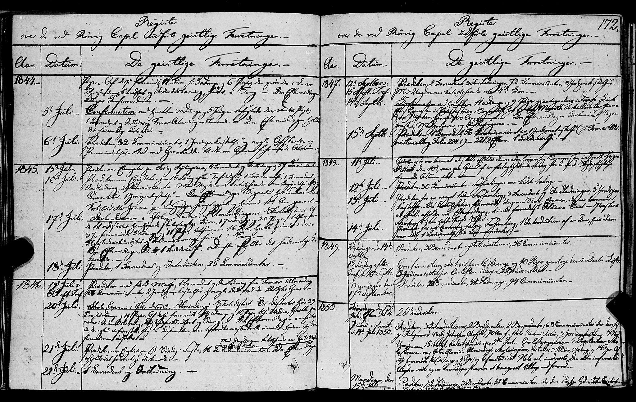 SAT, Ministerialprotokoller, klokkerbøker og fødselsregistre - Nord-Trøndelag, 762/L0538: Ministerialbok nr. 762A02 /1, 1833-1879, s. 172