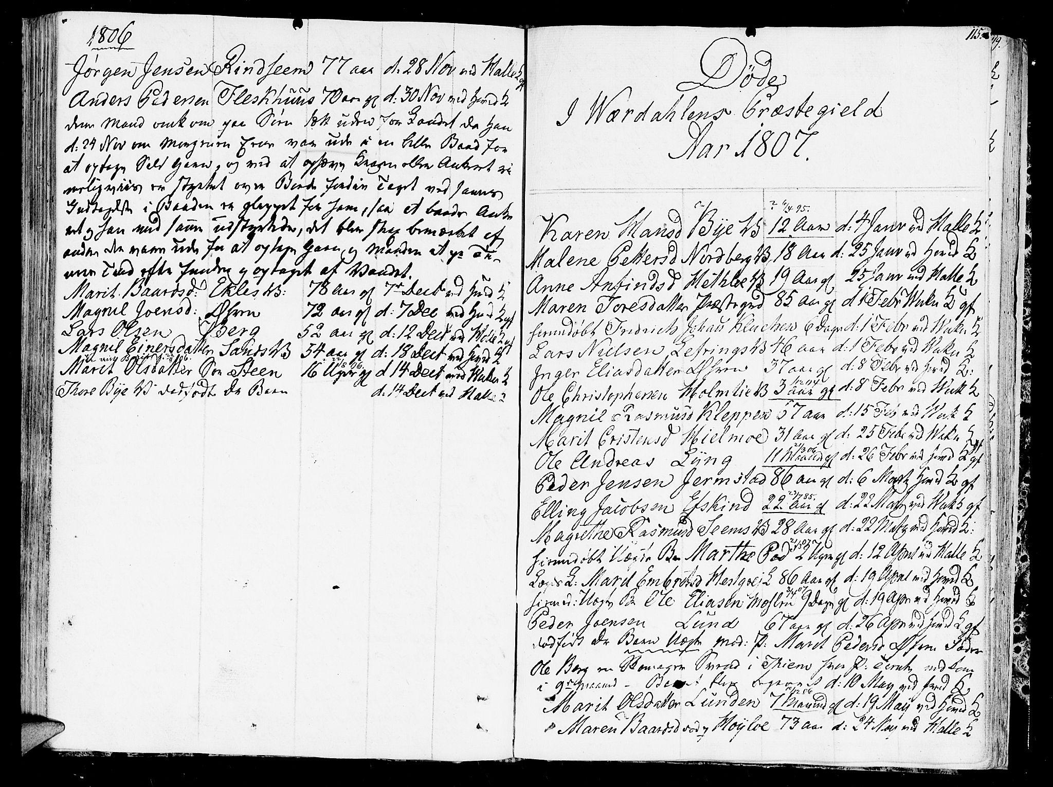 SAT, Ministerialprotokoller, klokkerbøker og fødselsregistre - Nord-Trøndelag, 723/L0233: Ministerialbok nr. 723A04, 1805-1816, s. 115