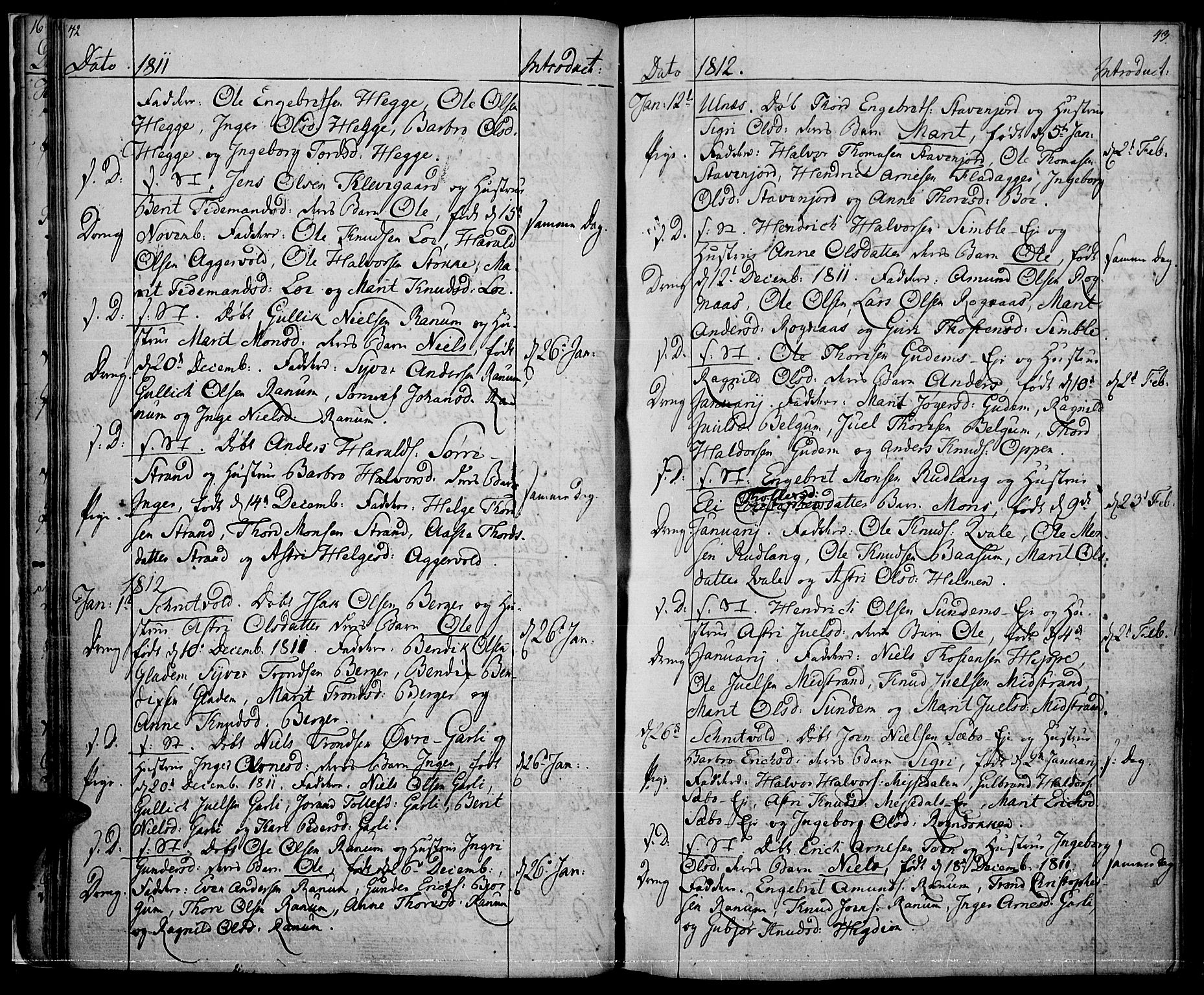 SAH, Nord-Aurdal prestekontor, Ministerialbok nr. 1, 1808-1815, s. 42-43