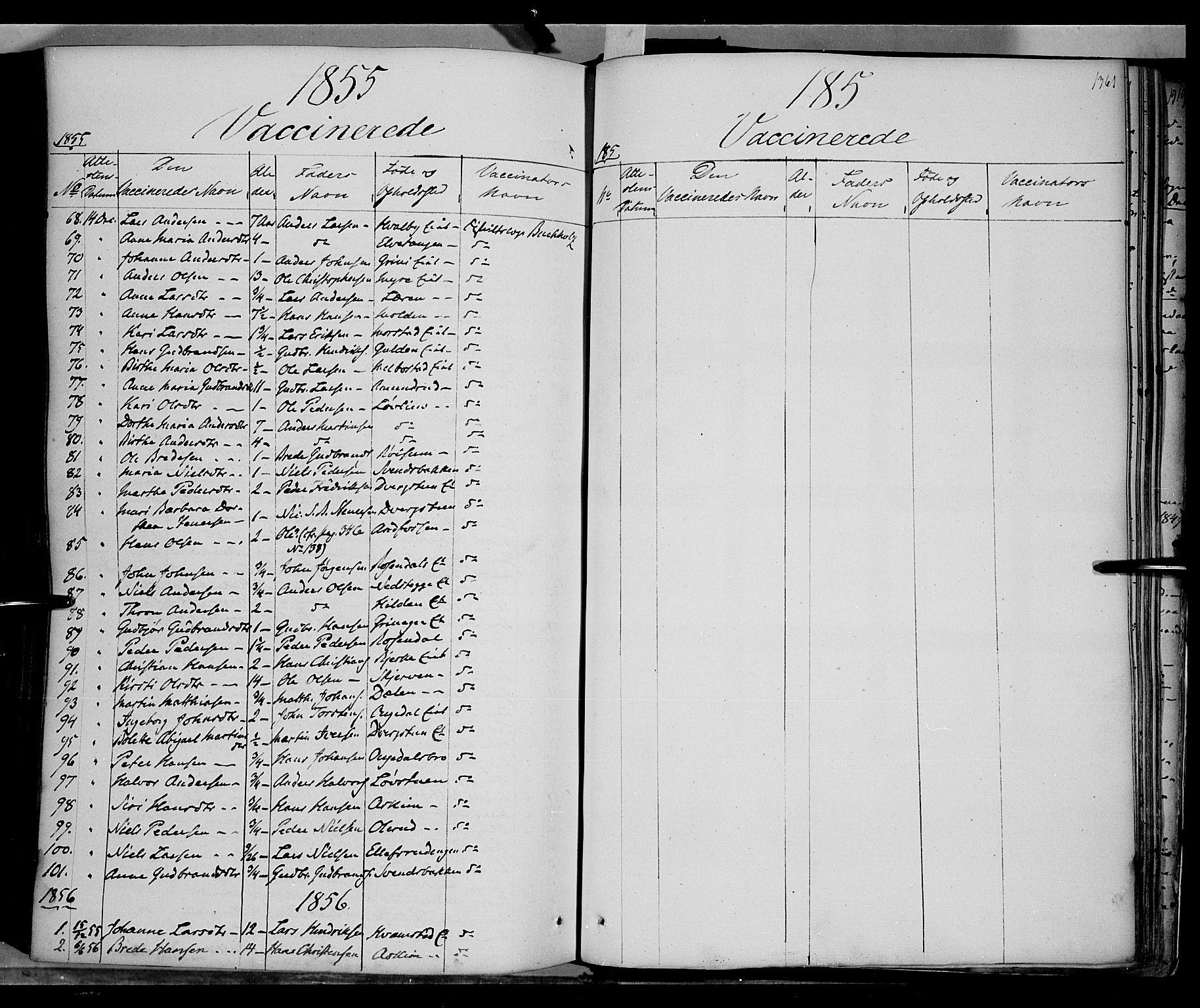 SAH, Gran prestekontor, Ministerialbok nr. 11, 1842-1856, s. 1360-1361