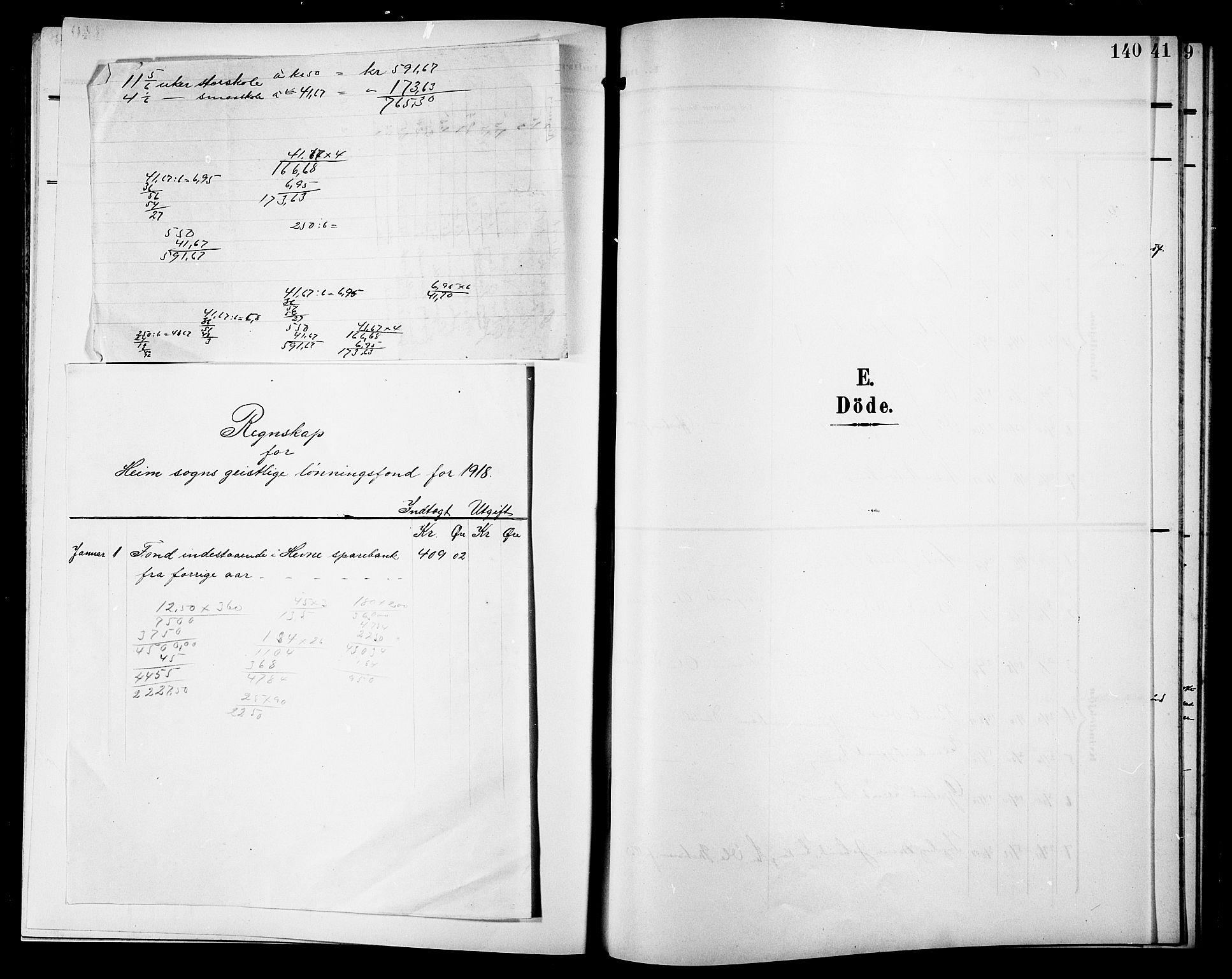 SAT, Ministerialprotokoller, klokkerbøker og fødselsregistre - Sør-Trøndelag, 633/L0520: Klokkerbok nr. 633C02, 1906-1921, s. 140