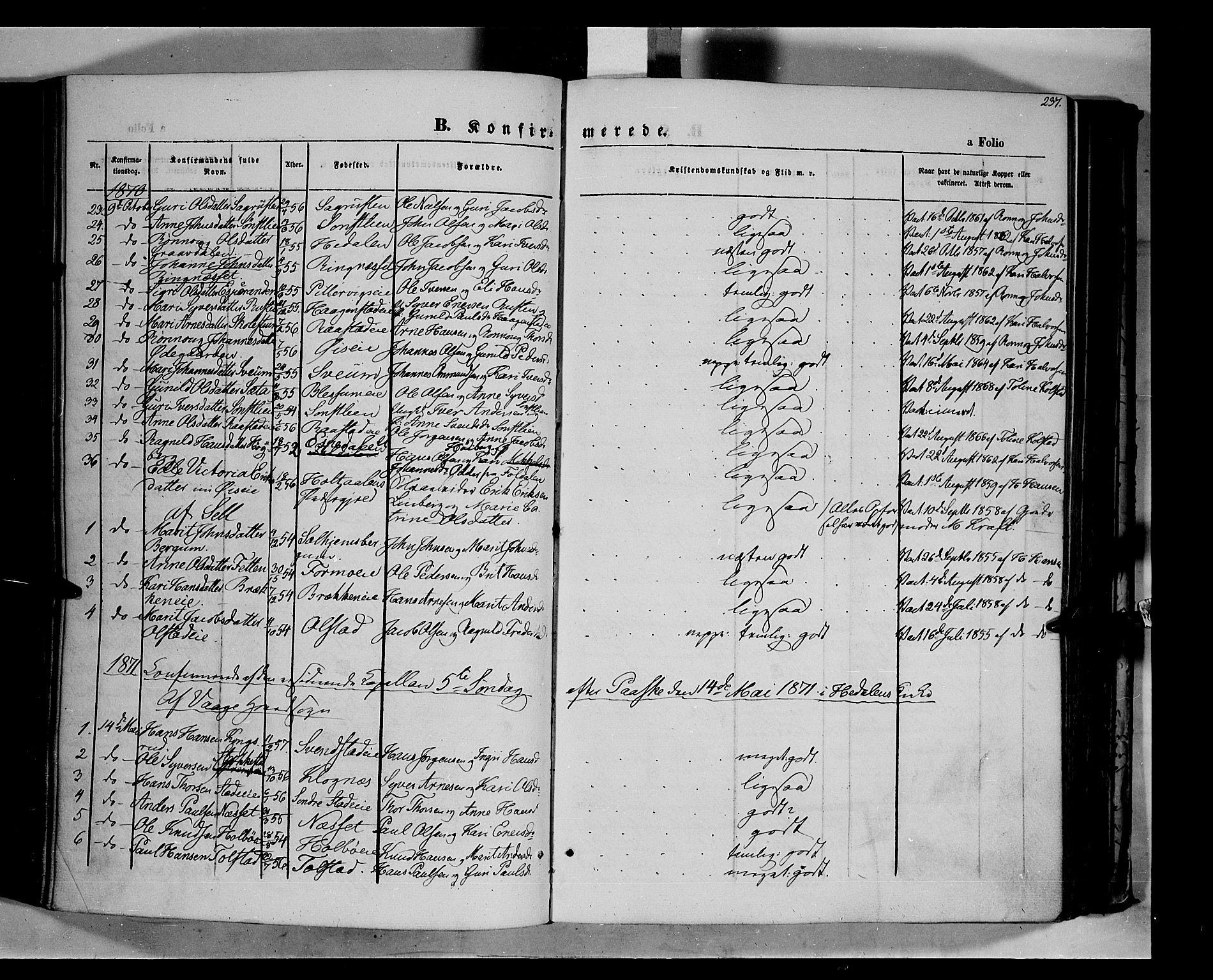 SAH, Vågå prestekontor, Ministerialbok nr. 6 /1, 1856-1872, s. 237