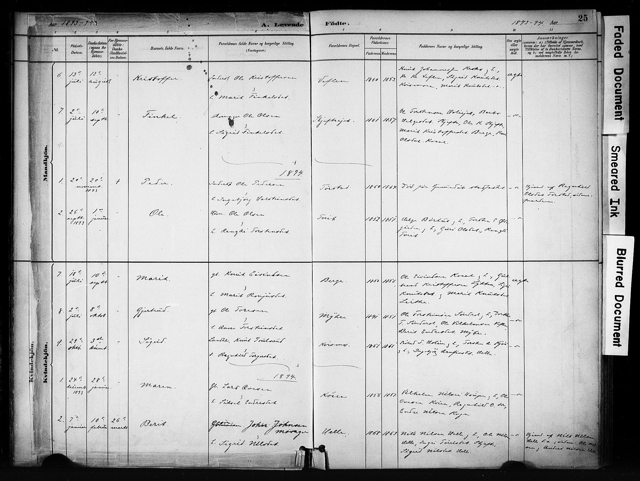 SAH, Vang prestekontor, Valdres, Ministerialbok nr. 9, 1882-1914, s. 25