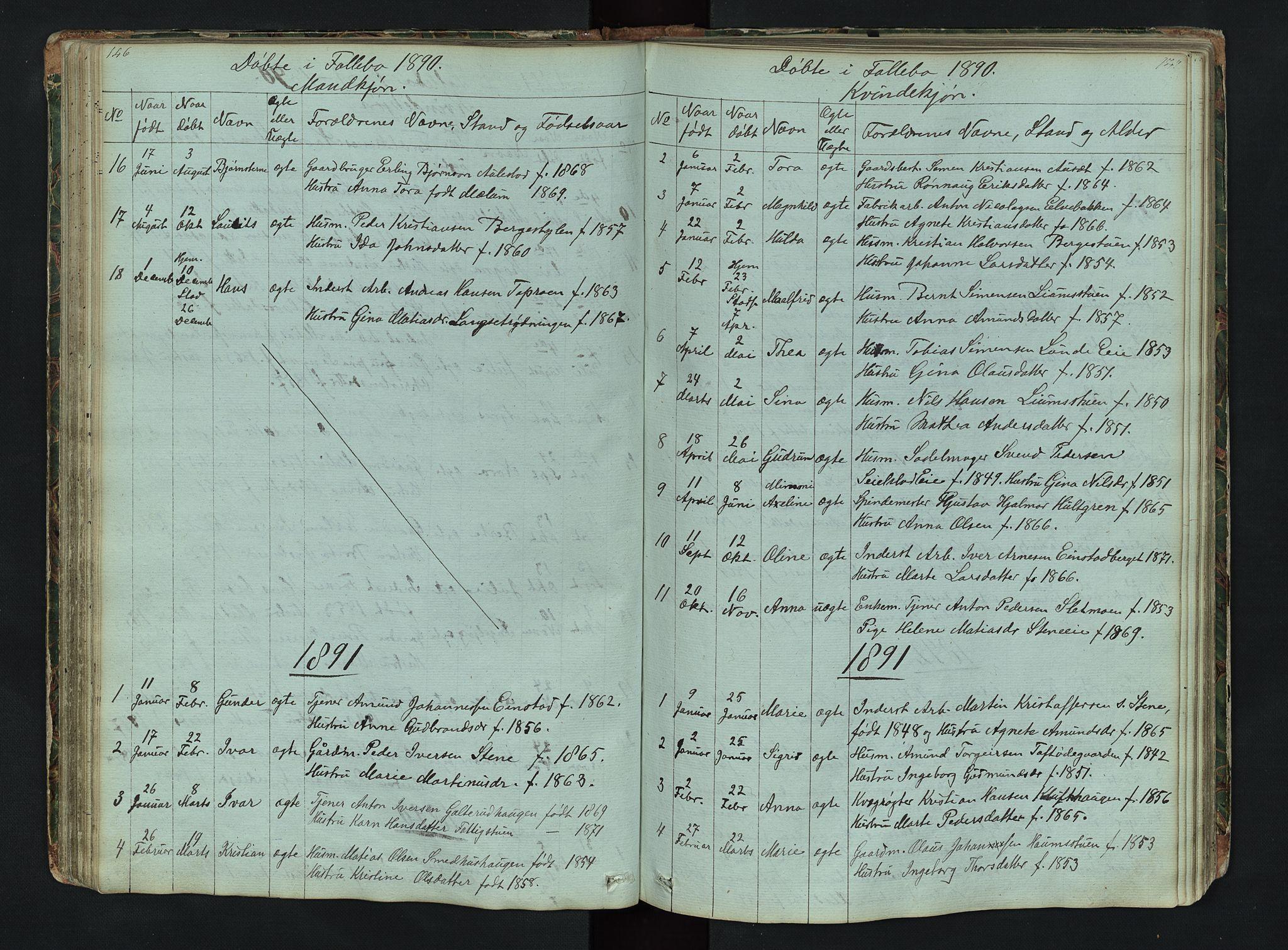 SAH, Gausdal prestekontor, Klokkerbok nr. 6, 1846-1893, s. 146-147