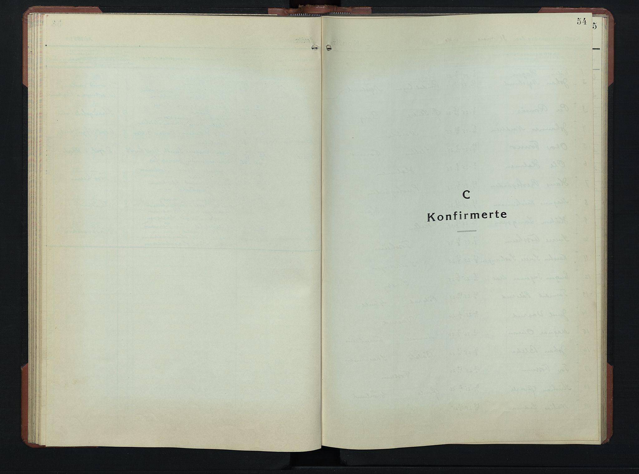 SAH, Øyer prestekontor, Klokkerbok nr. 9, 1939-1953, s. 54