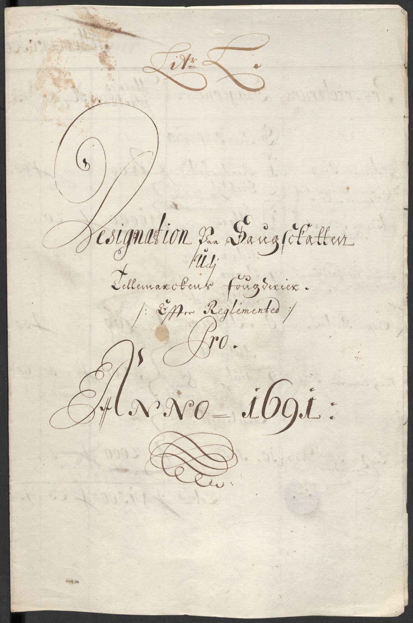 RA, Rentekammeret inntil 1814, Reviderte regnskaper, Fogderegnskap, R35/L2089: Fogderegnskap Øvre og Nedre Telemark, 1690-1692, s. 420