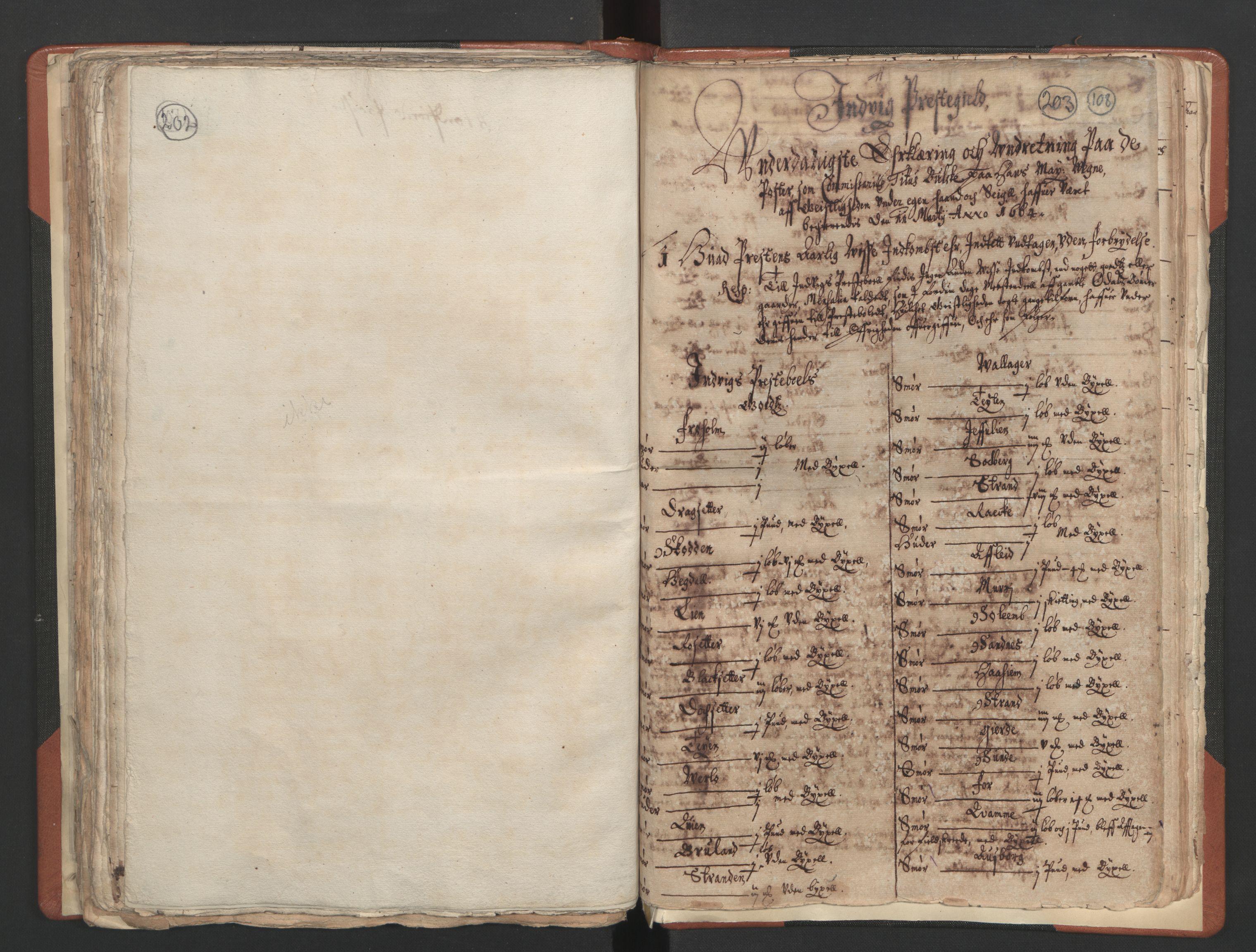 RA, Sogneprestenes manntall 1664-1666, nr. 25: Nordfjord prosti, 1664-1666, s. 202-203
