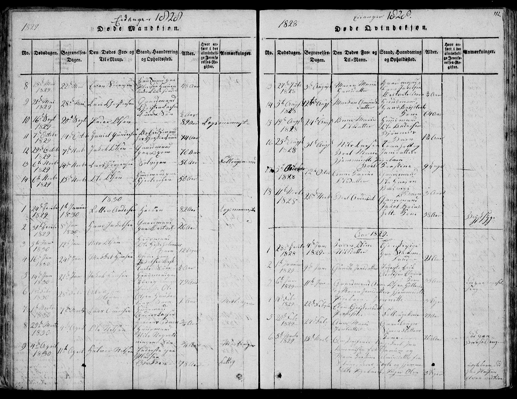 SAKO, Eidanger kirkebøker, F/Fa/L0007: Ministerialbok nr. 7, 1814-1831, s. 112