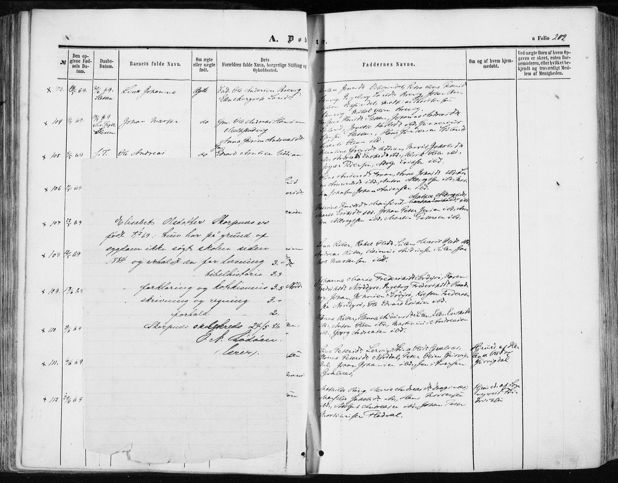 SAT, Ministerialprotokoller, klokkerbøker og fødselsregistre - Sør-Trøndelag, 634/L0531: Ministerialbok nr. 634A07, 1861-1870, s. 202