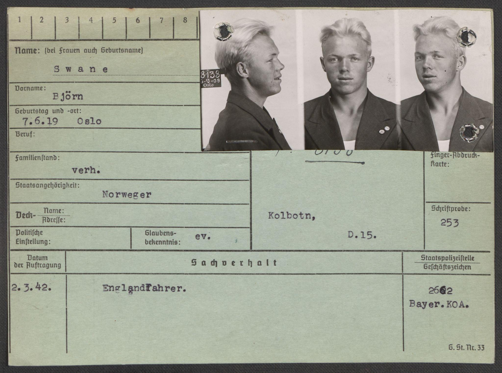 RA, Befehlshaber der Sicherheitspolizei und des SD, E/Ea/Eaa/L0009: Register over norske fanger i Møllergata 19: Ru-Sy, 1940-1945, s. 1598