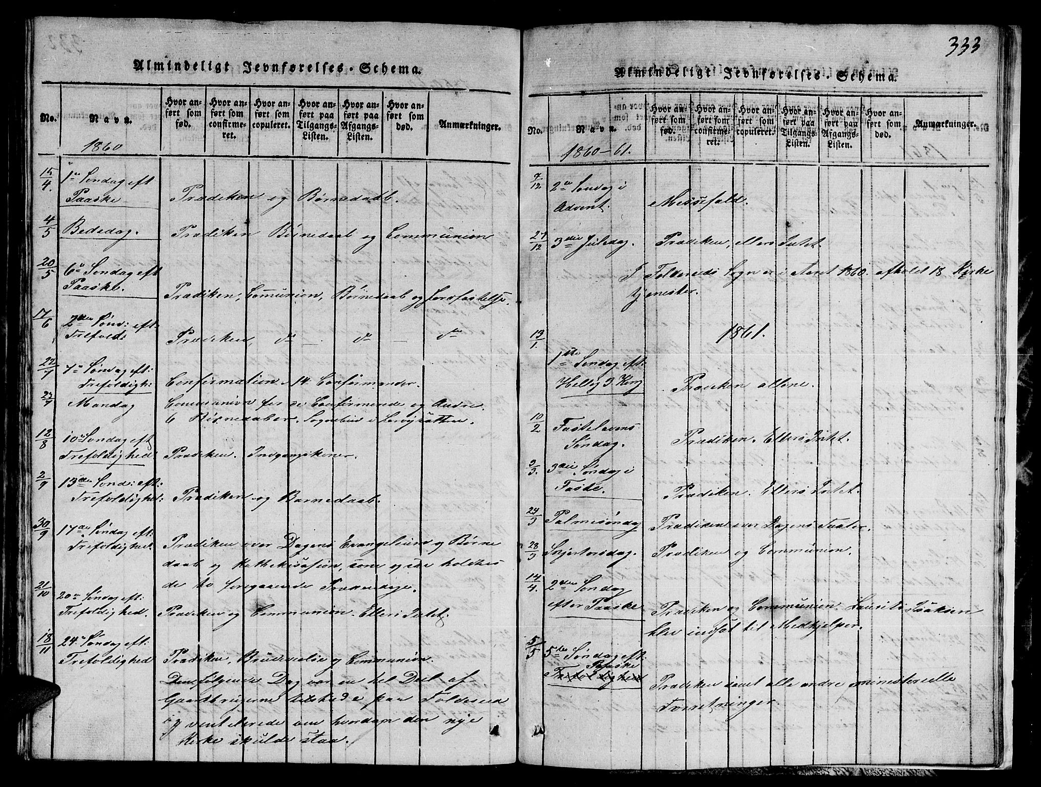 SAT, Ministerialprotokoller, klokkerbøker og fødselsregistre - Nord-Trøndelag, 780/L0648: Klokkerbok nr. 780C01 /1, 1815-1870, s. 333