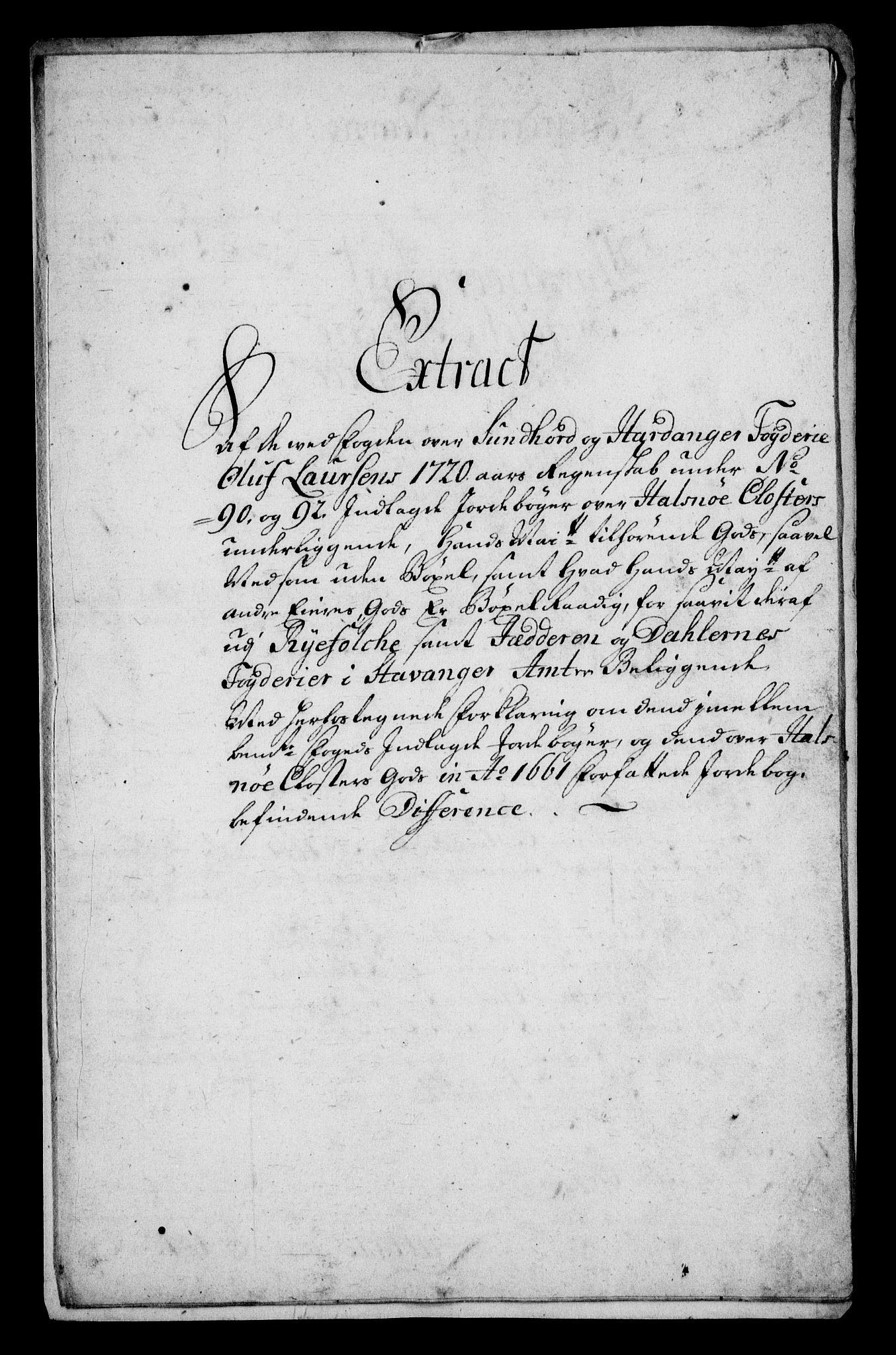 RA, Rentekammeret inntil 1814, Realistisk ordnet avdeling, On/L0005: [Jj 6]: Forskjellige dokumenter om Halsnøy klosters gods, 1697-1770, s. 392