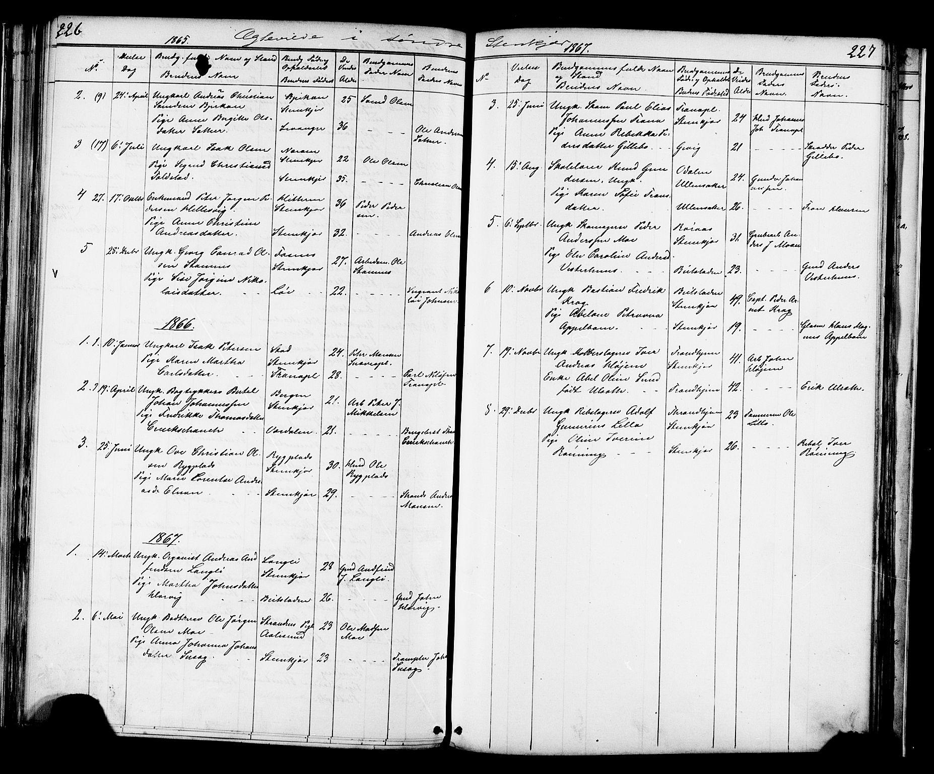 SAT, Ministerialprotokoller, klokkerbøker og fødselsregistre - Nord-Trøndelag, 739/L0367: Ministerialbok nr. 739A01 /1, 1838-1868, s. 226-227